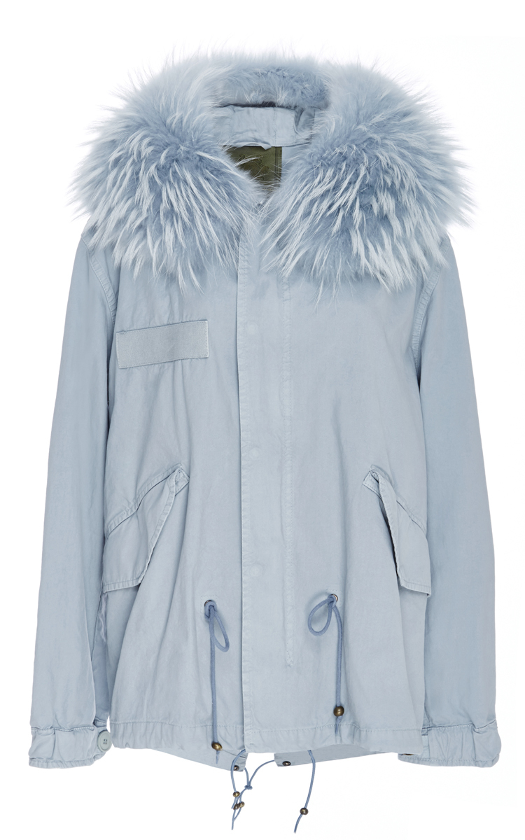 Pale Blue Parka
