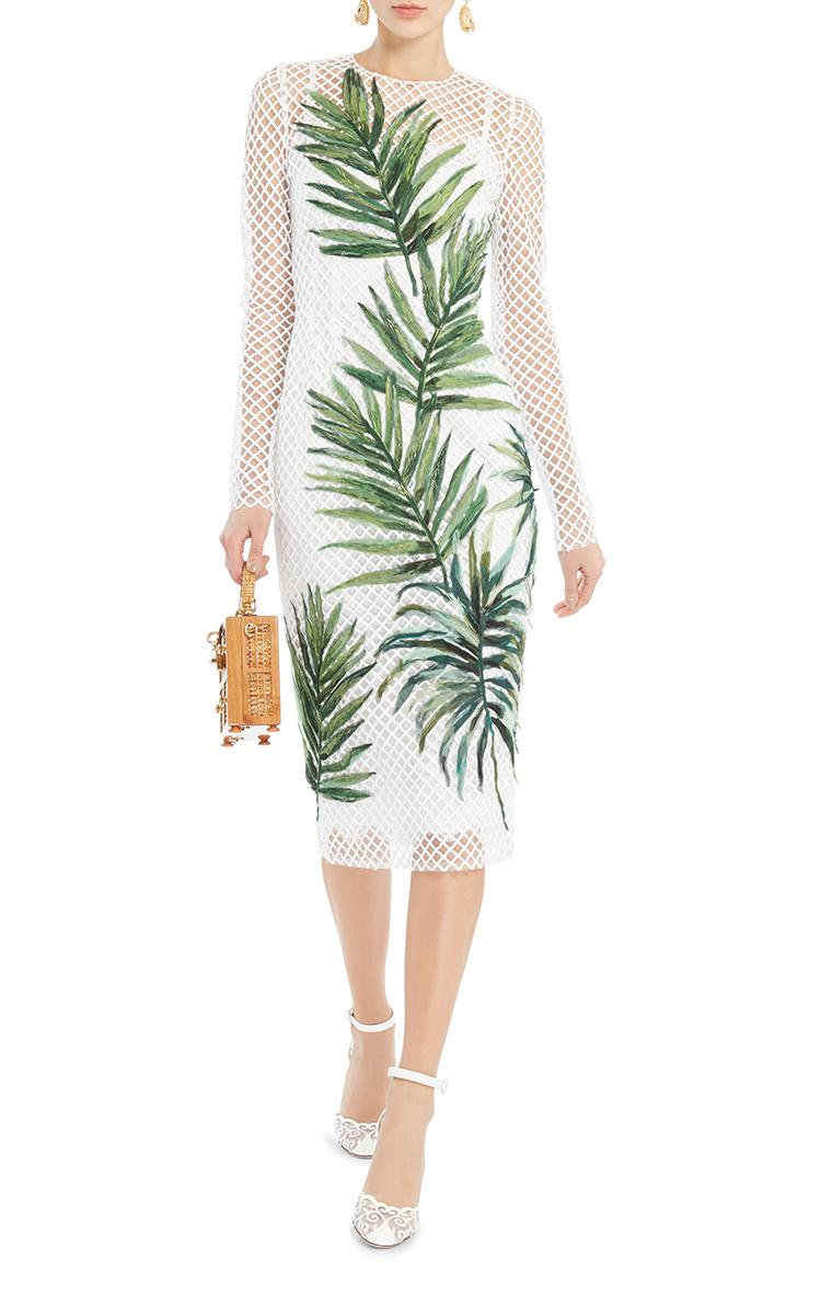 Palm Leaf Mesh Dress by Dolce & Gabbana | Moda Operandi