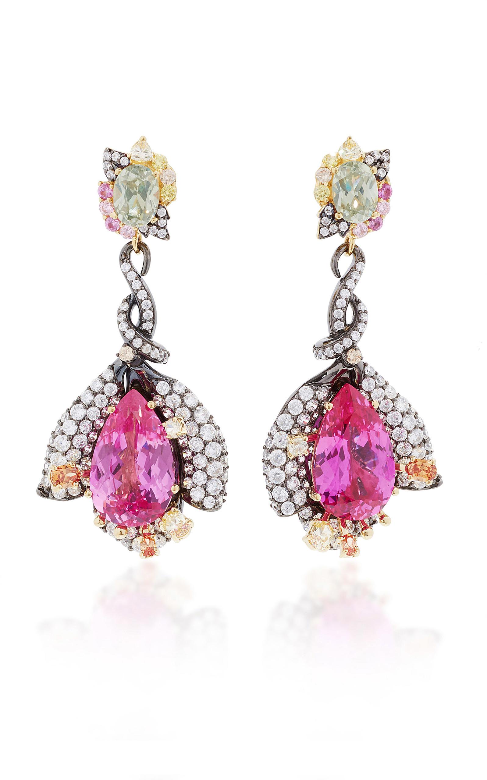Women's Exclusive: Fuchsia Sapphire Earrings