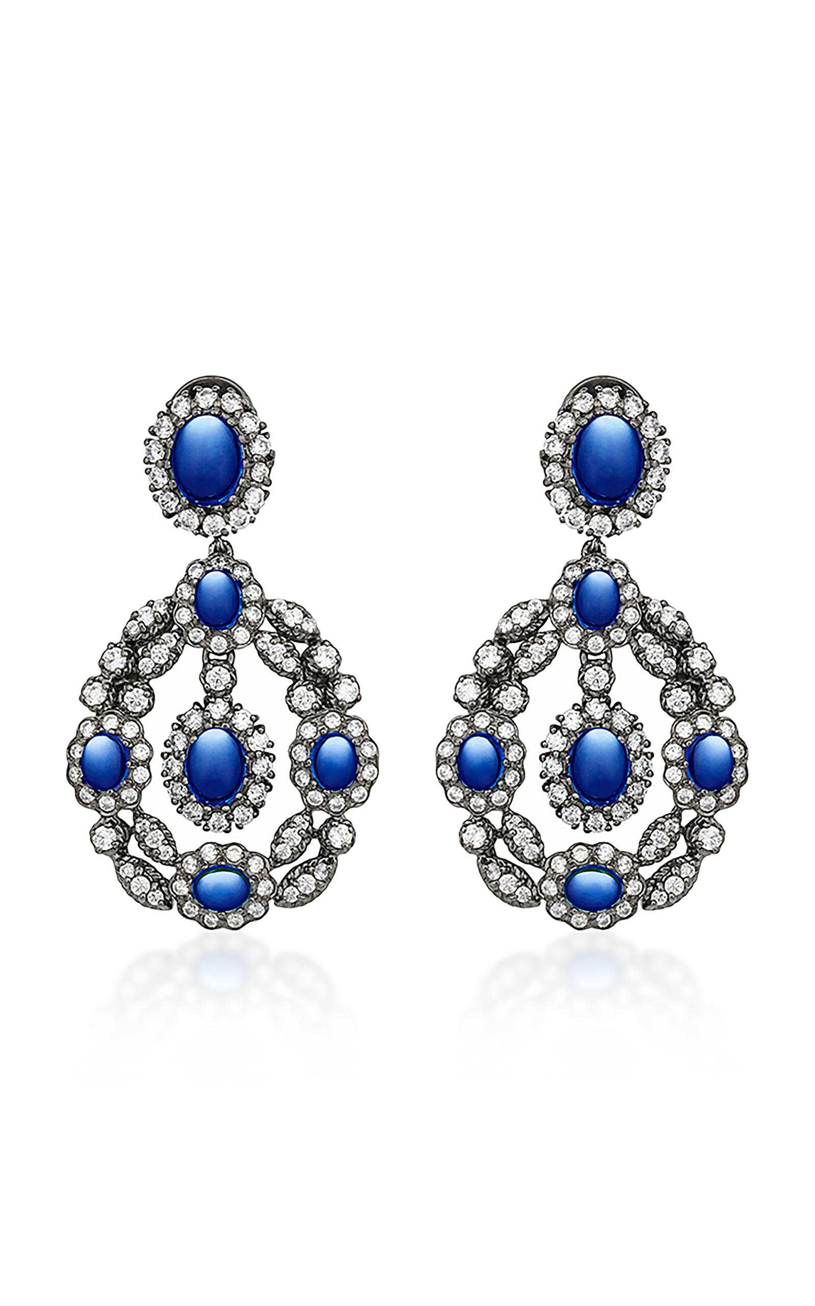 Anabela Chan – Women's Exclusive Treasure Sapphire Earrings – Blue – Moda Operandi