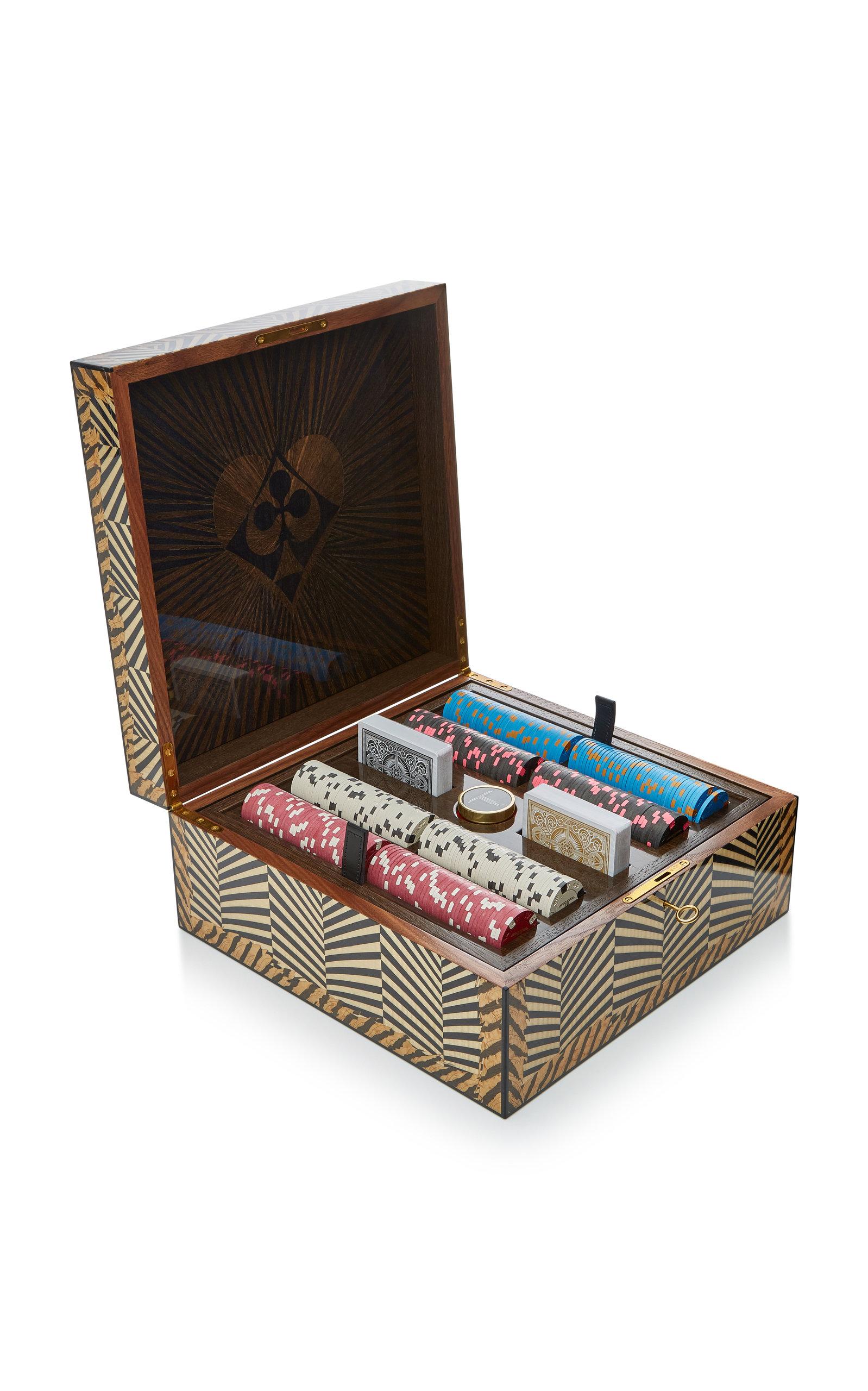 Alexandra Llewellyn – Skull Poker Set – Color: Black – Material: bog oak – Moda Operandi