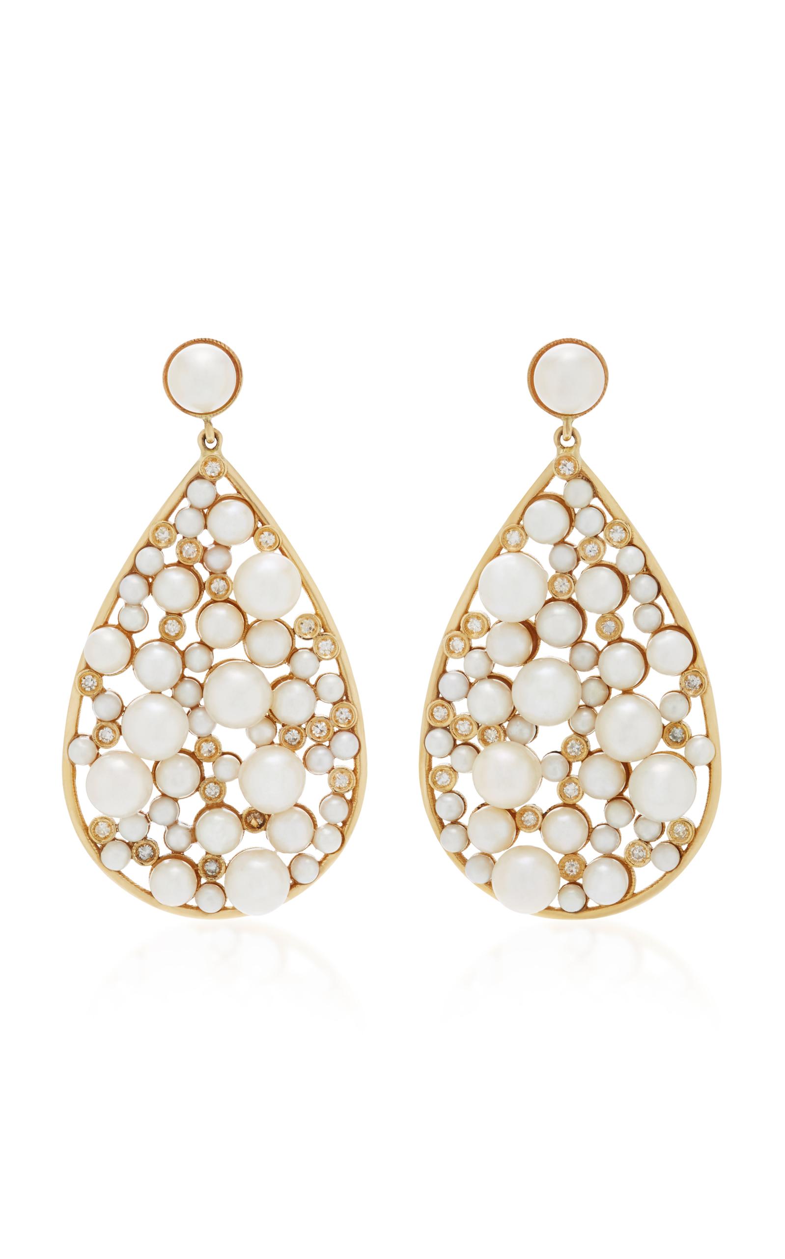 Nancy Newberg – Women's Yellow Gold Large Teardrop Earrings – Gold – Moda Operandi