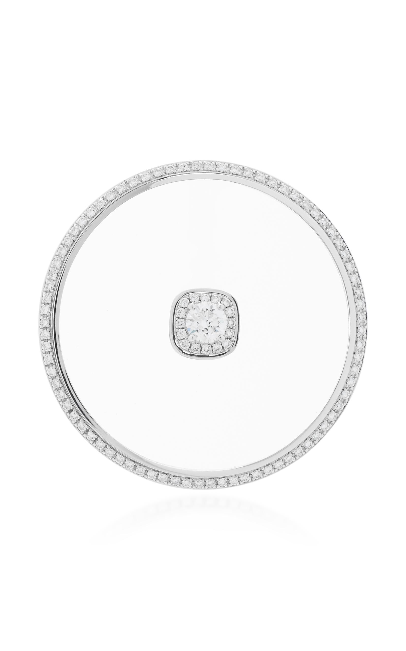 Nikos Koulis – Women's Universe Single Earring with Removable Stud – White – Moda Operandi