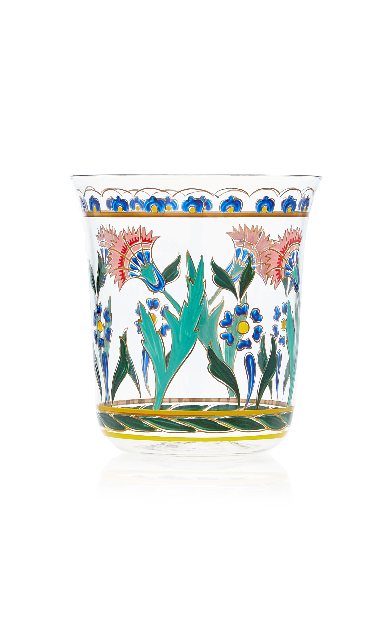 Lobmeyr – Persian No. 3 Handpainted Floral Motif Tumbler – Color: Multi – Material: glass – Moda Operandi