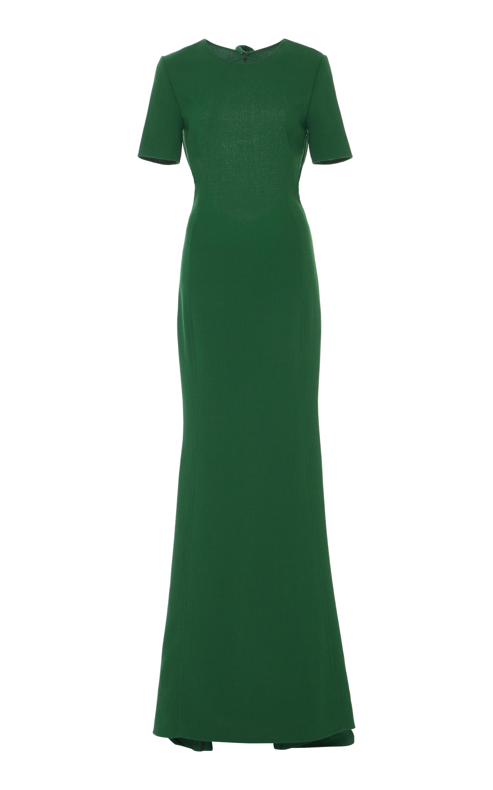 Short Sleeve Gown By Oscar De La A