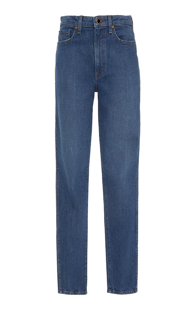 Khaite – Women's Vanessa Mid-Rise Skinny Jeans – Medium Wash/blue – Moda Operandi