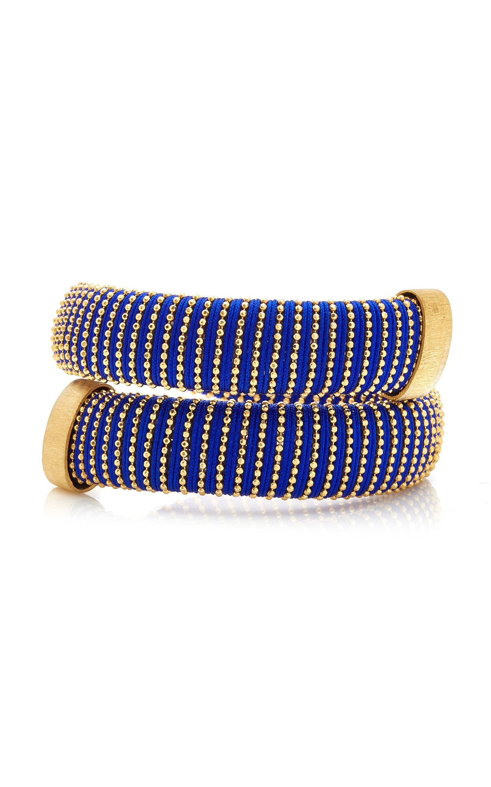 Carolina Bucci – Women's Cobalt Caro Gold-Plated Bracelet – Blue – Moda Operandi