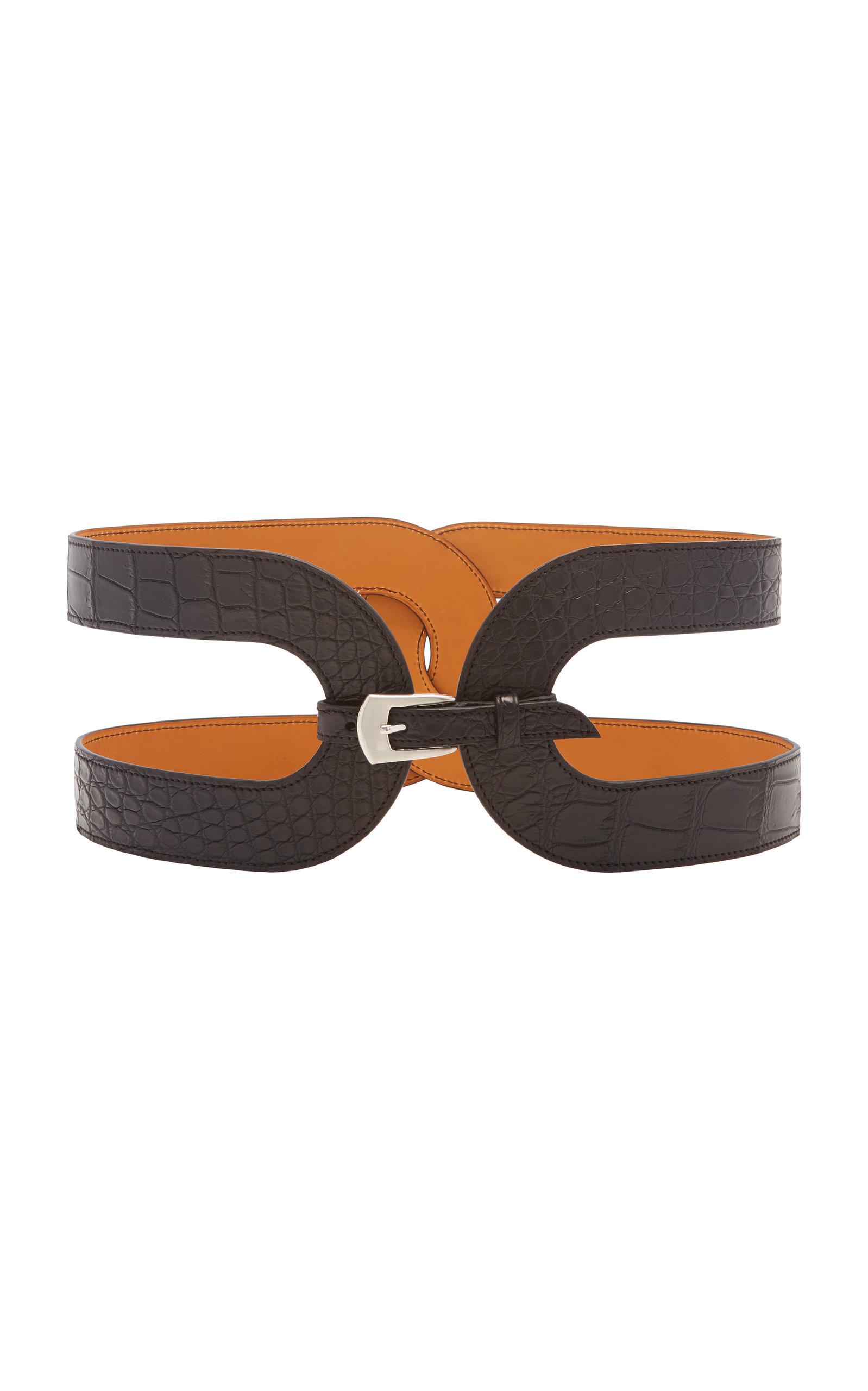 Women's Exclusive Crocodile Waist Belt