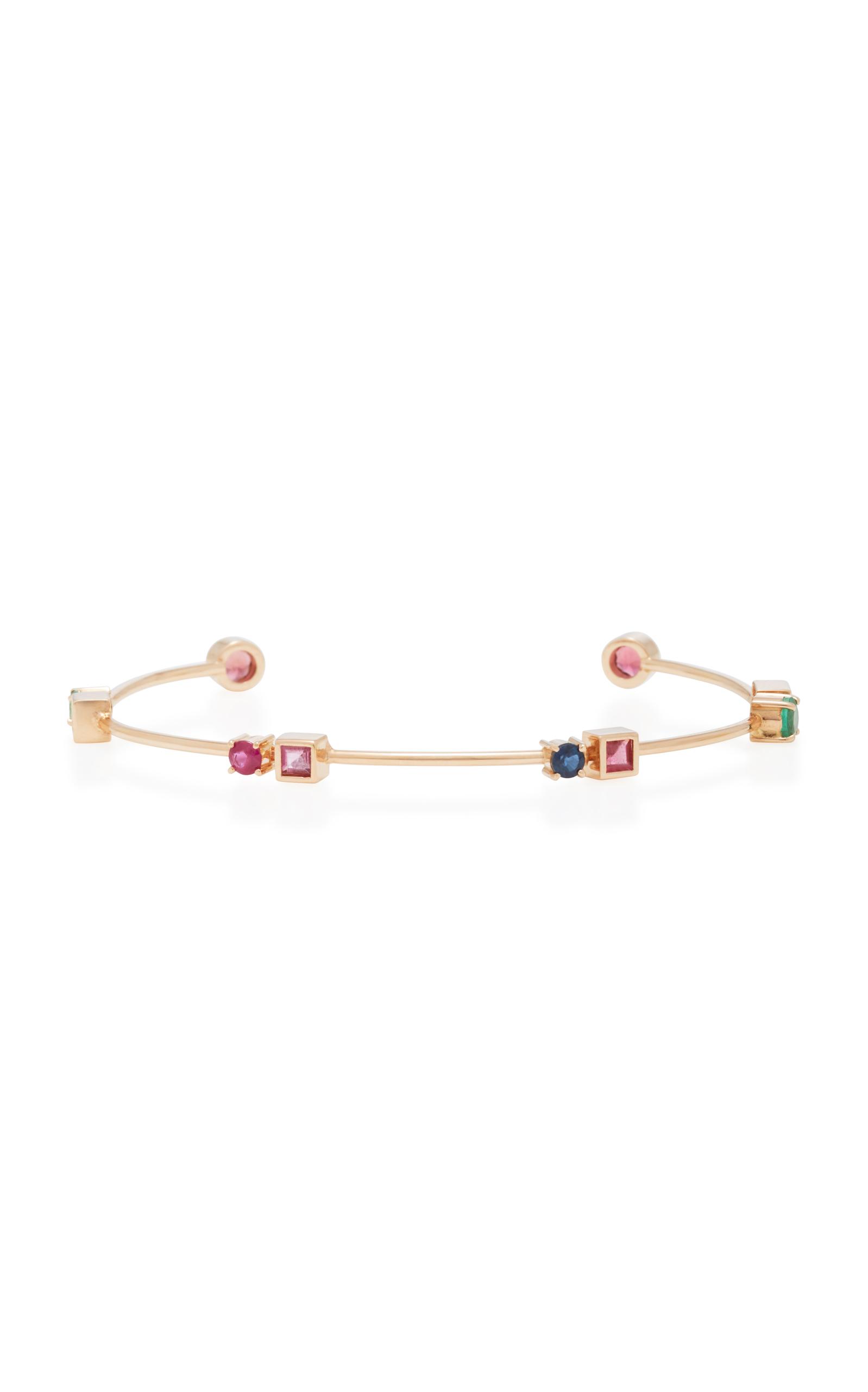 Carolina Neves – Women's 18K Gold Multi-Stone Rose Colors Bracelet – Multi – Moda Operandi