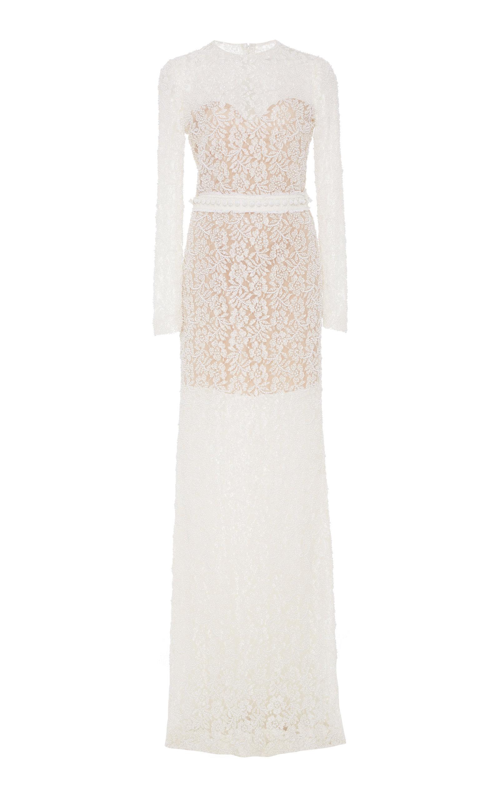 Buy Costarellos Bridal Beaded Lace Maxi Dress online, shop Costarellos Bridal at the best price