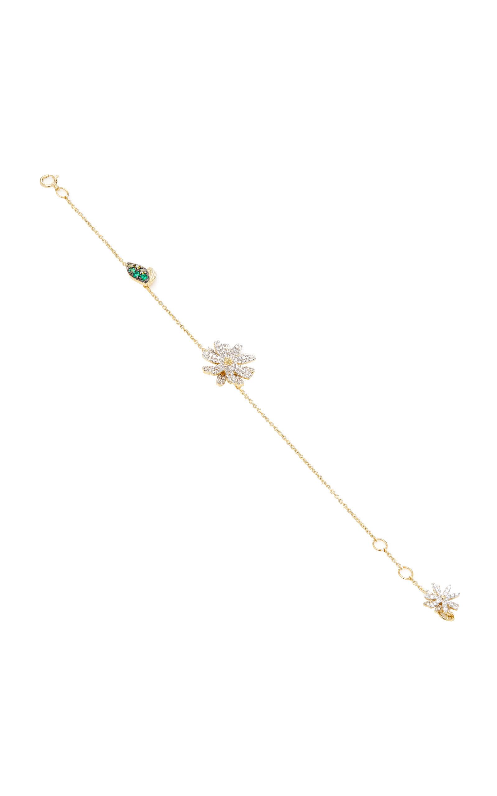Women's Daisy 14K Gold Vermeil And Diamond Bracelet