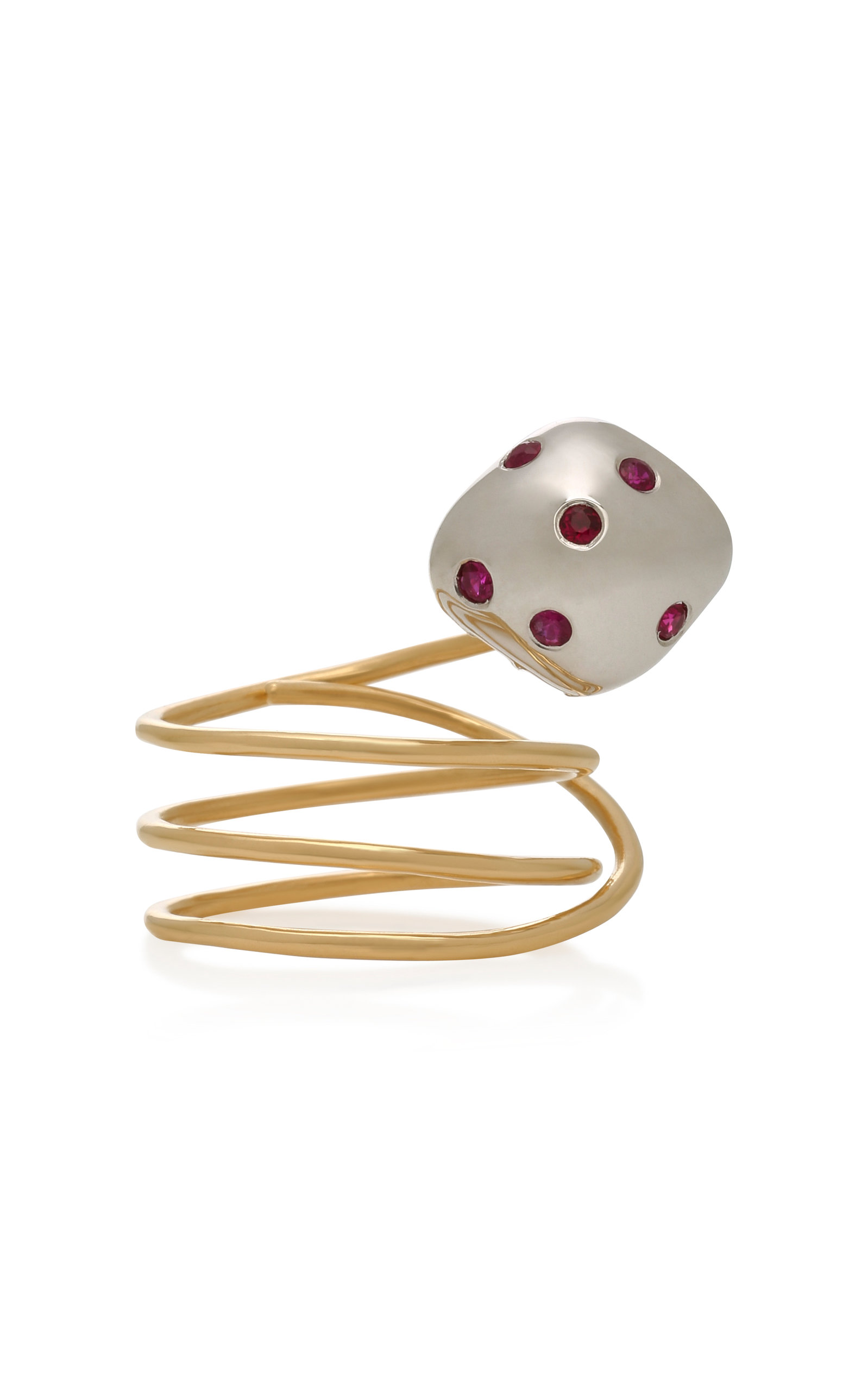 Women's Mushroom 18K Gold and Ruby Ring