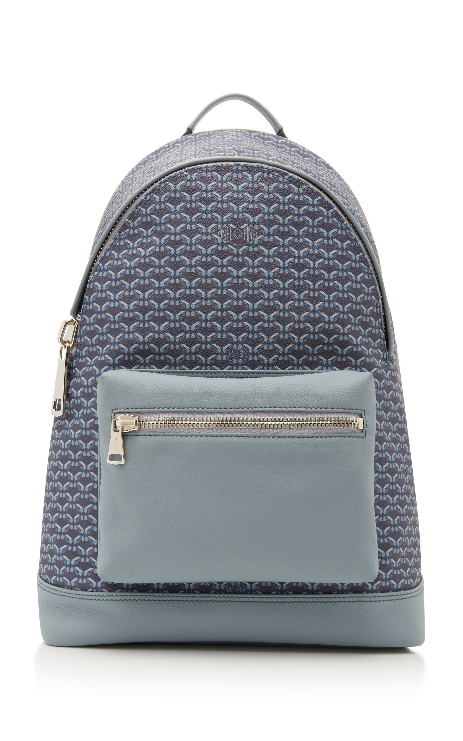Leather And Coated Canvas Backpack By