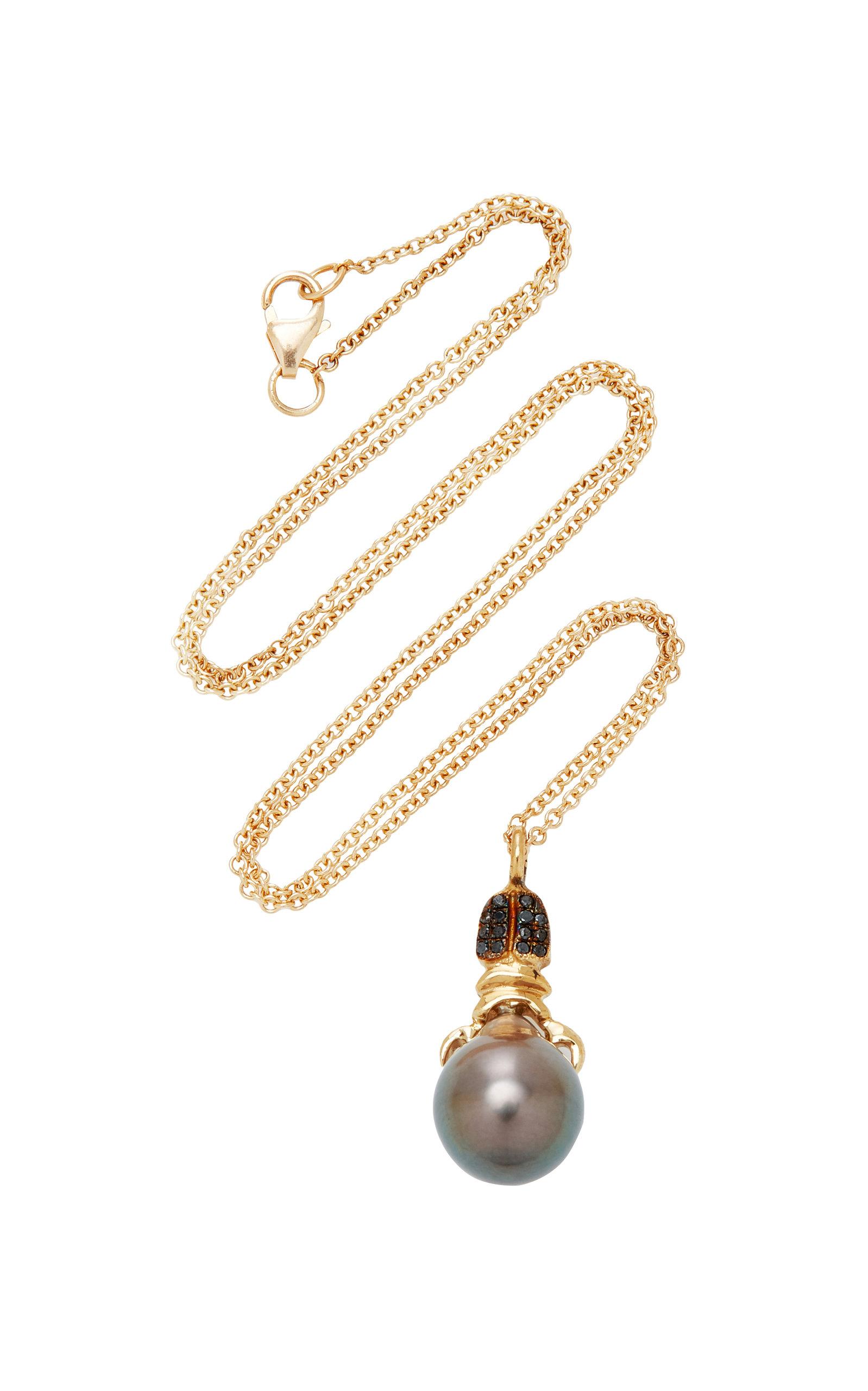 Women's Khepri 18K Rose Gold; Garnet And Pearl Necklace
