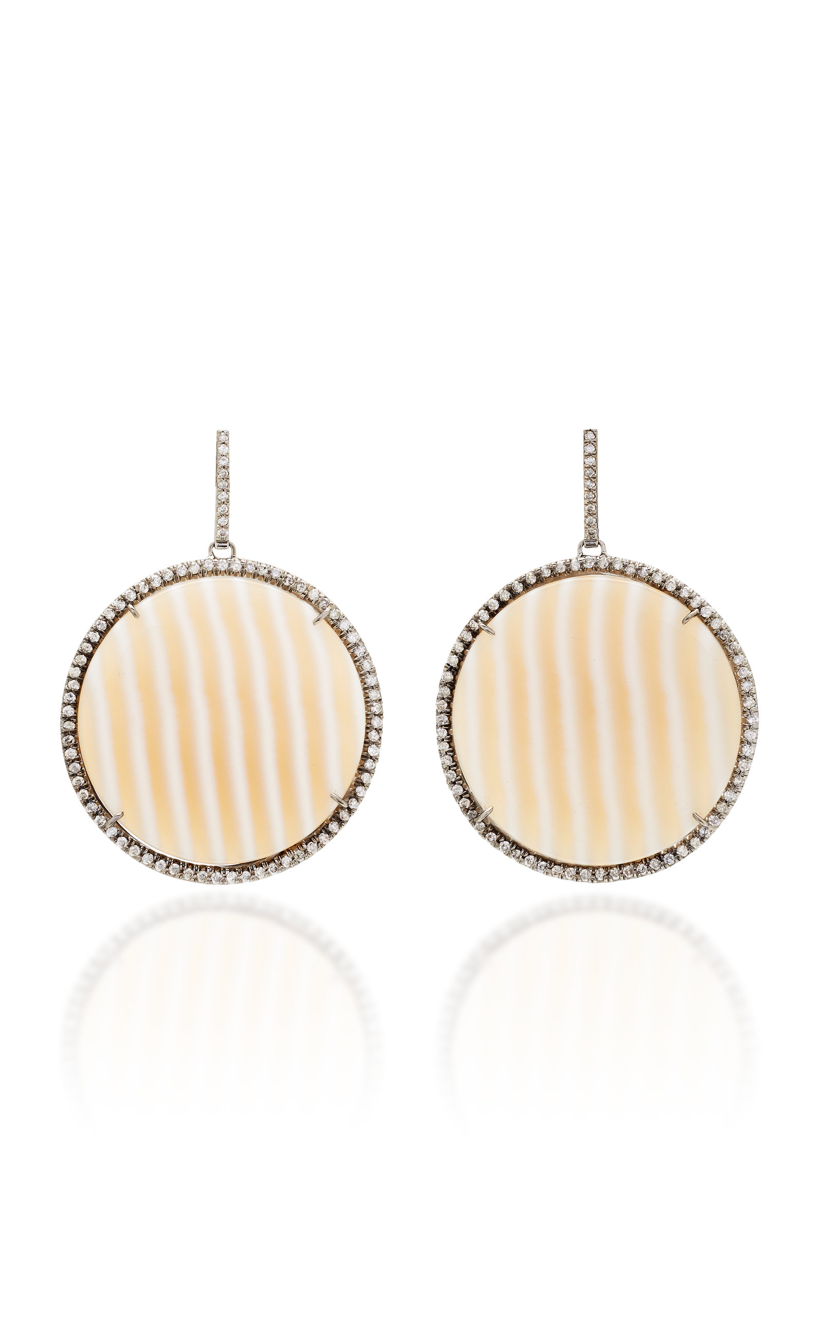 Women's One-Of-A-Kind Striped Chalcedony Discs