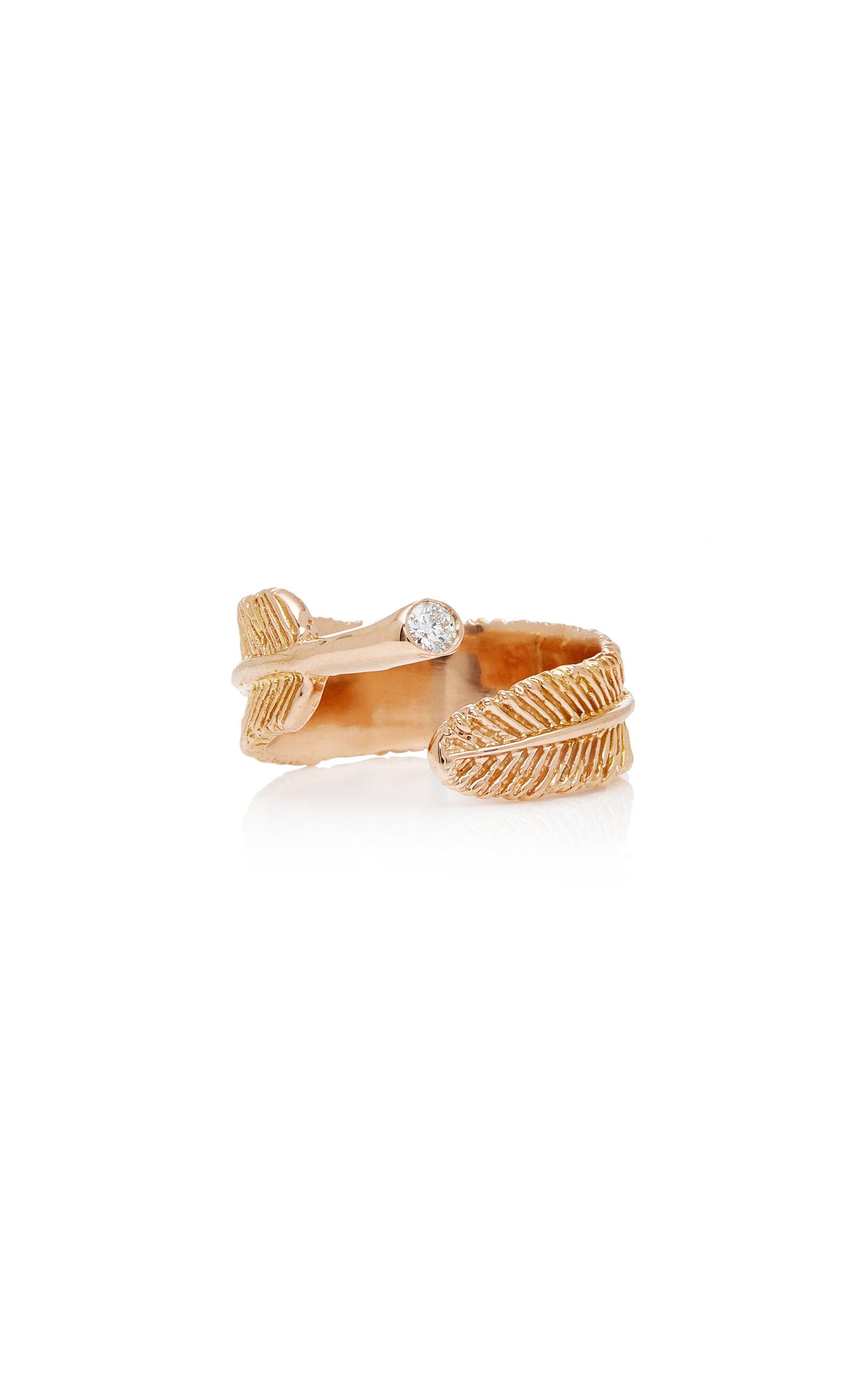 Women's Wing 18K Rose Gold Diamond Ring