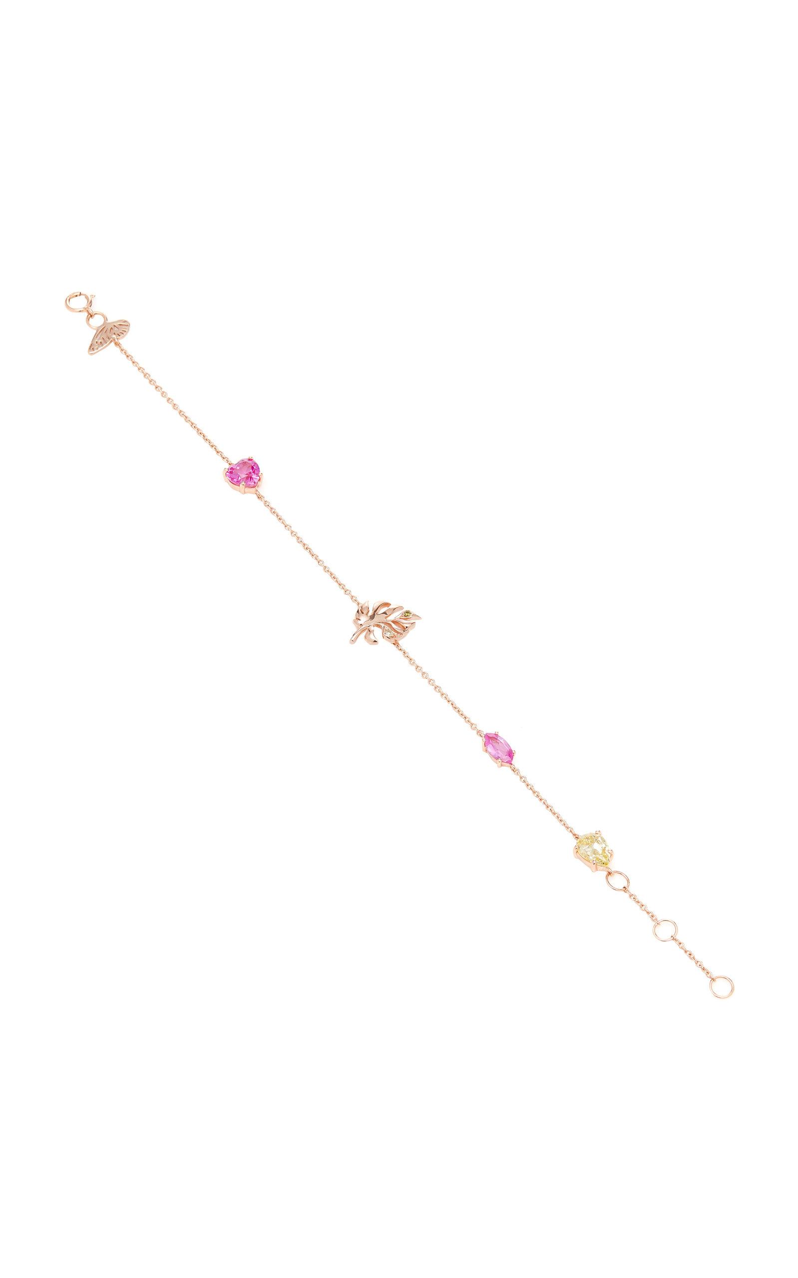 Women's Exclusive Fuchsia Palm 18K Vermeil Rose Gold Bracelet