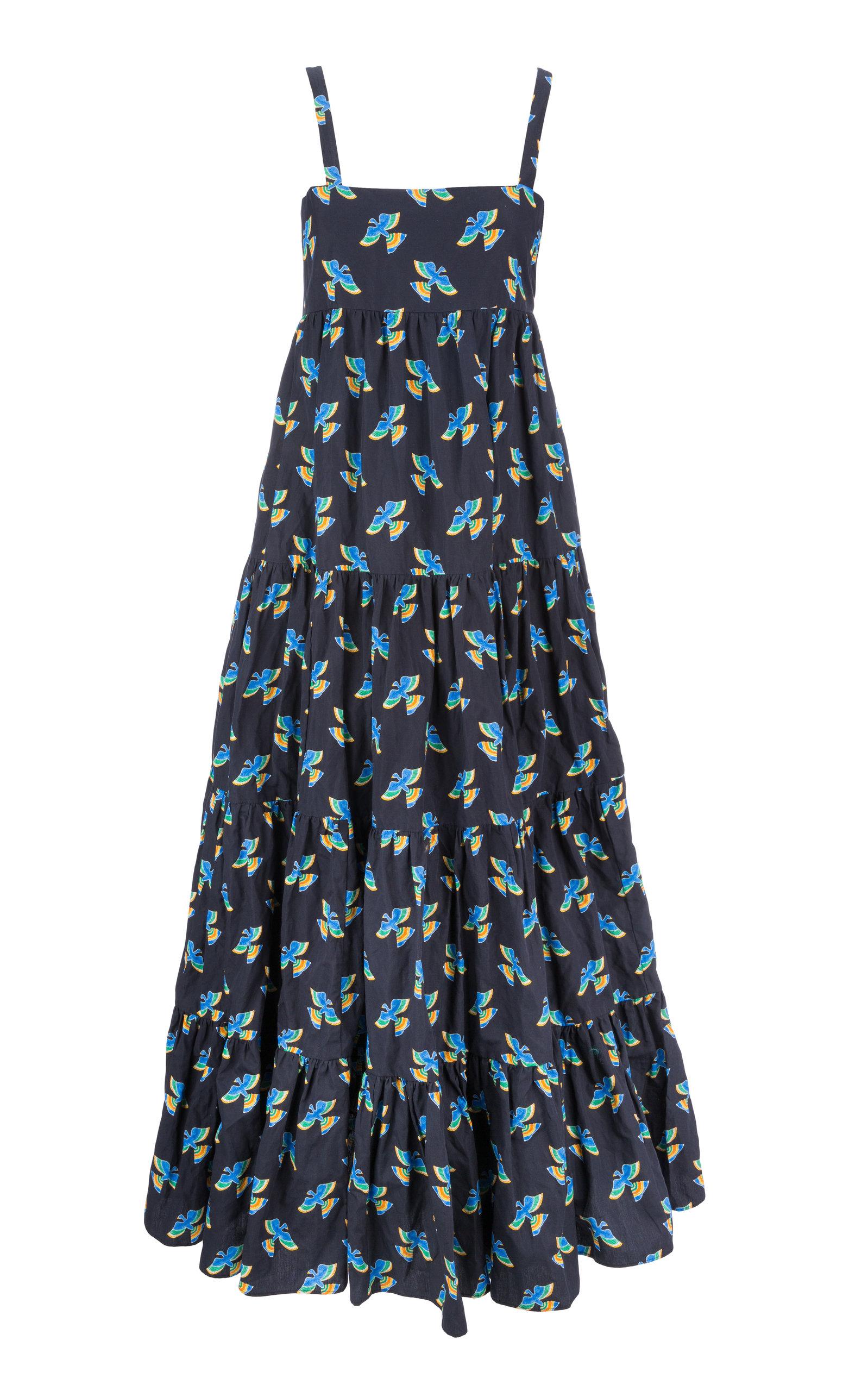 Buy La DoubleJ Metallic Printed Cotton-Poplin Maxi Dress online, shop La DoubleJ at the best price