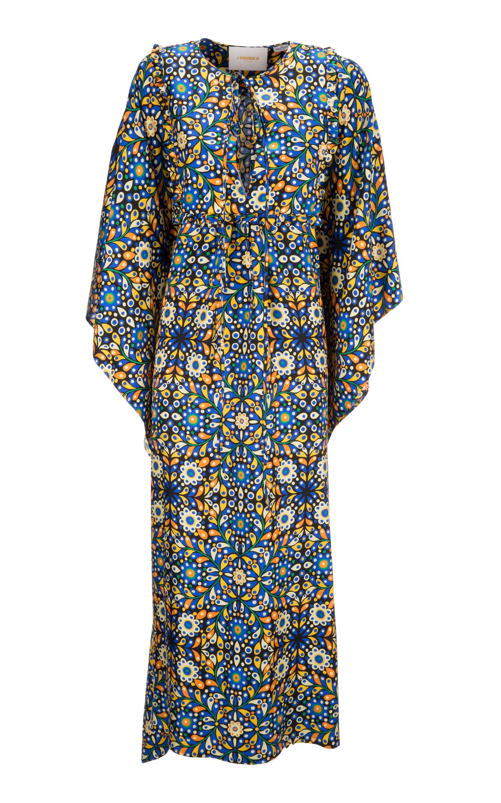 Buy La DoubleJ Talitha Printed Silk Crepe De Chine Caftan online, shop La DoubleJ at the best price
