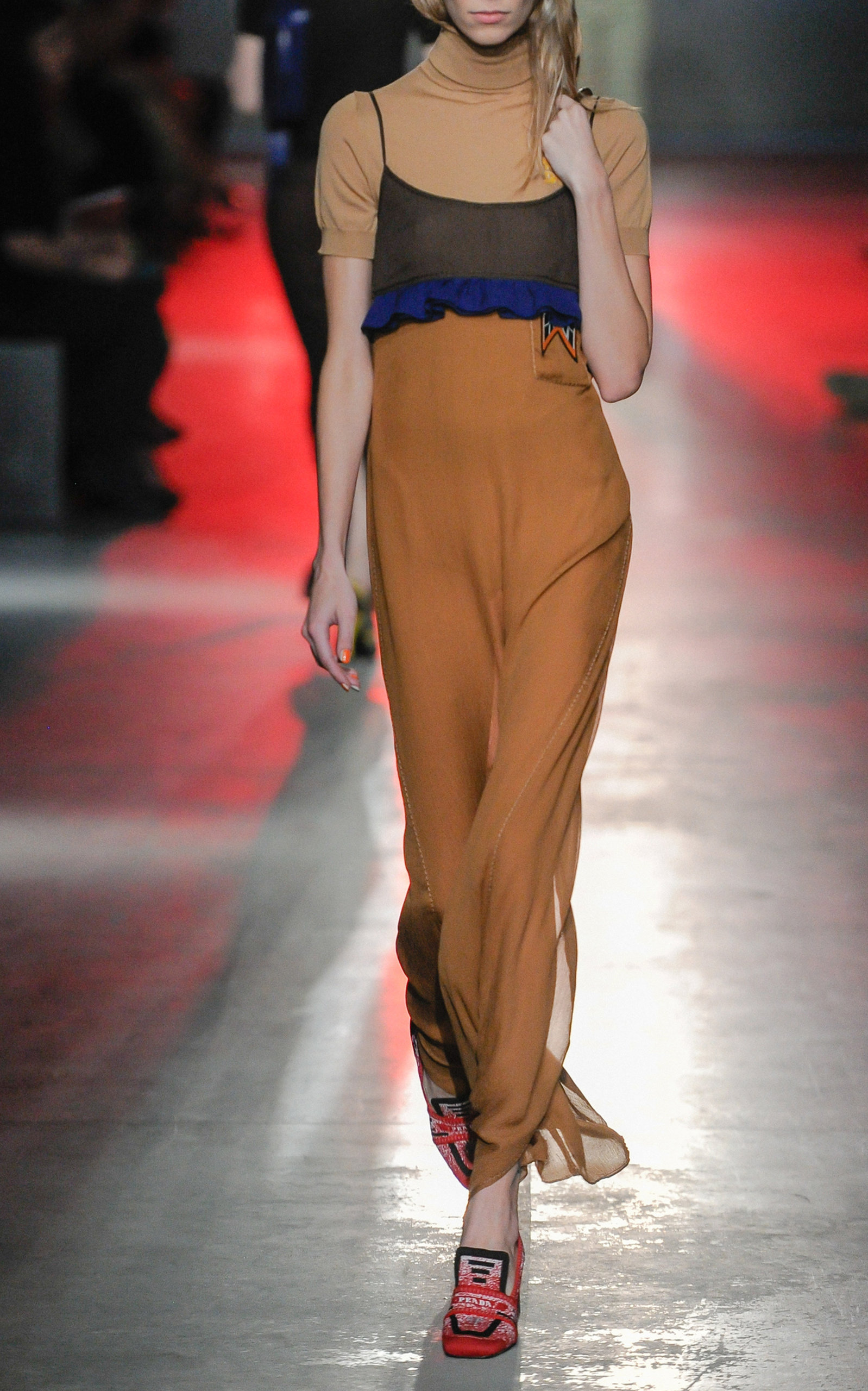 Buy Prada Sleeveless Maxi Dress online, shop Prada at the best price