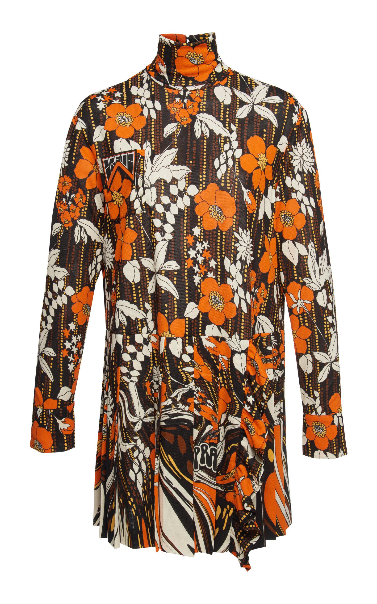 Buy Prada Floral-Print Organza Mini Dress online, shop Prada at the best price