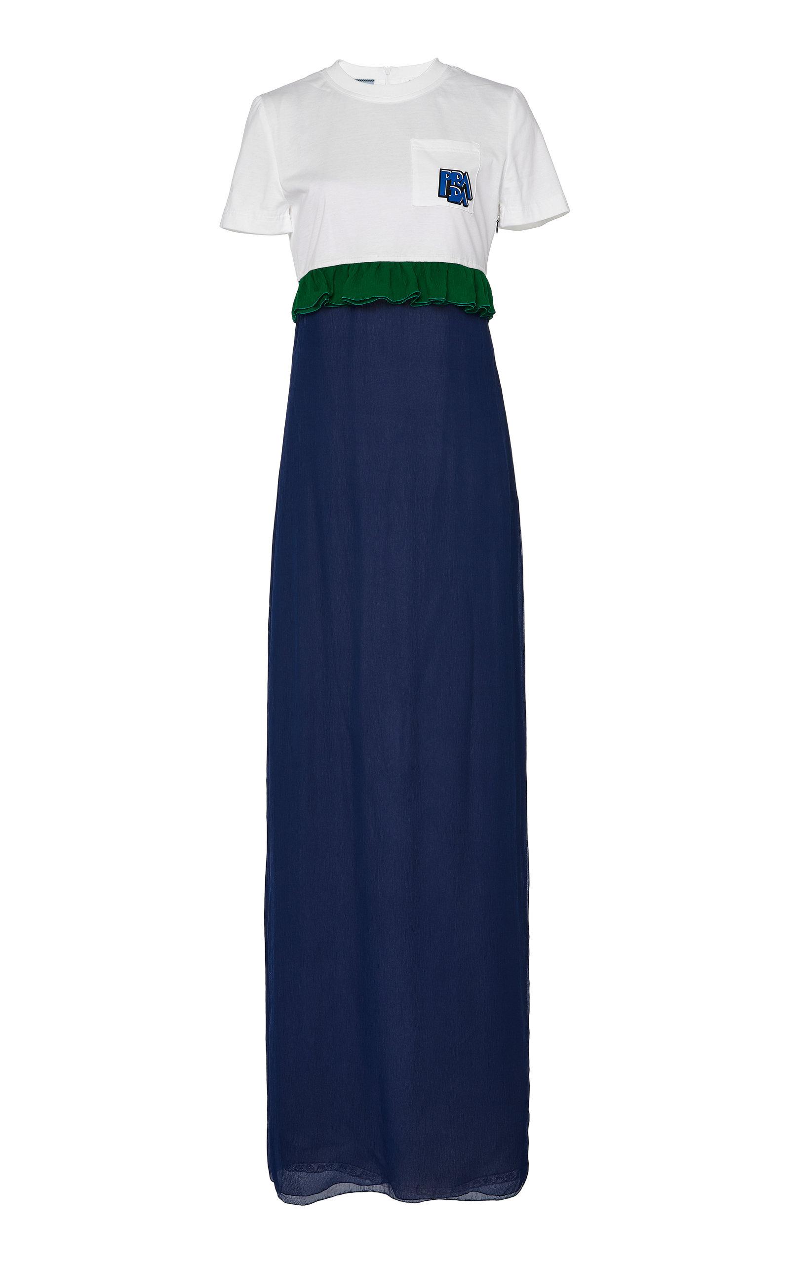 Buy Prada Silk-Chiffon Maxi T-Shirt Dress online, shop Prada at the best price