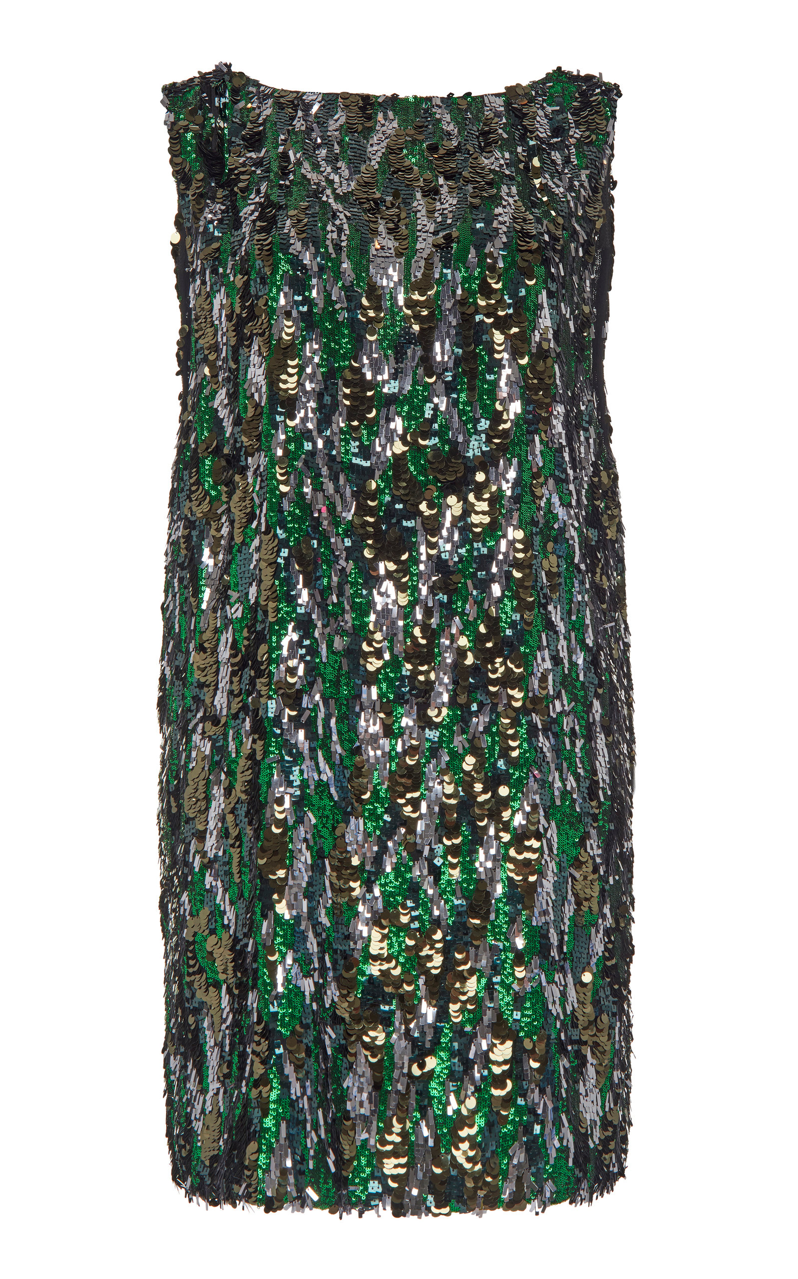 Buy Prada Bark Sequin Mini Dress online, shop Prada at the best price