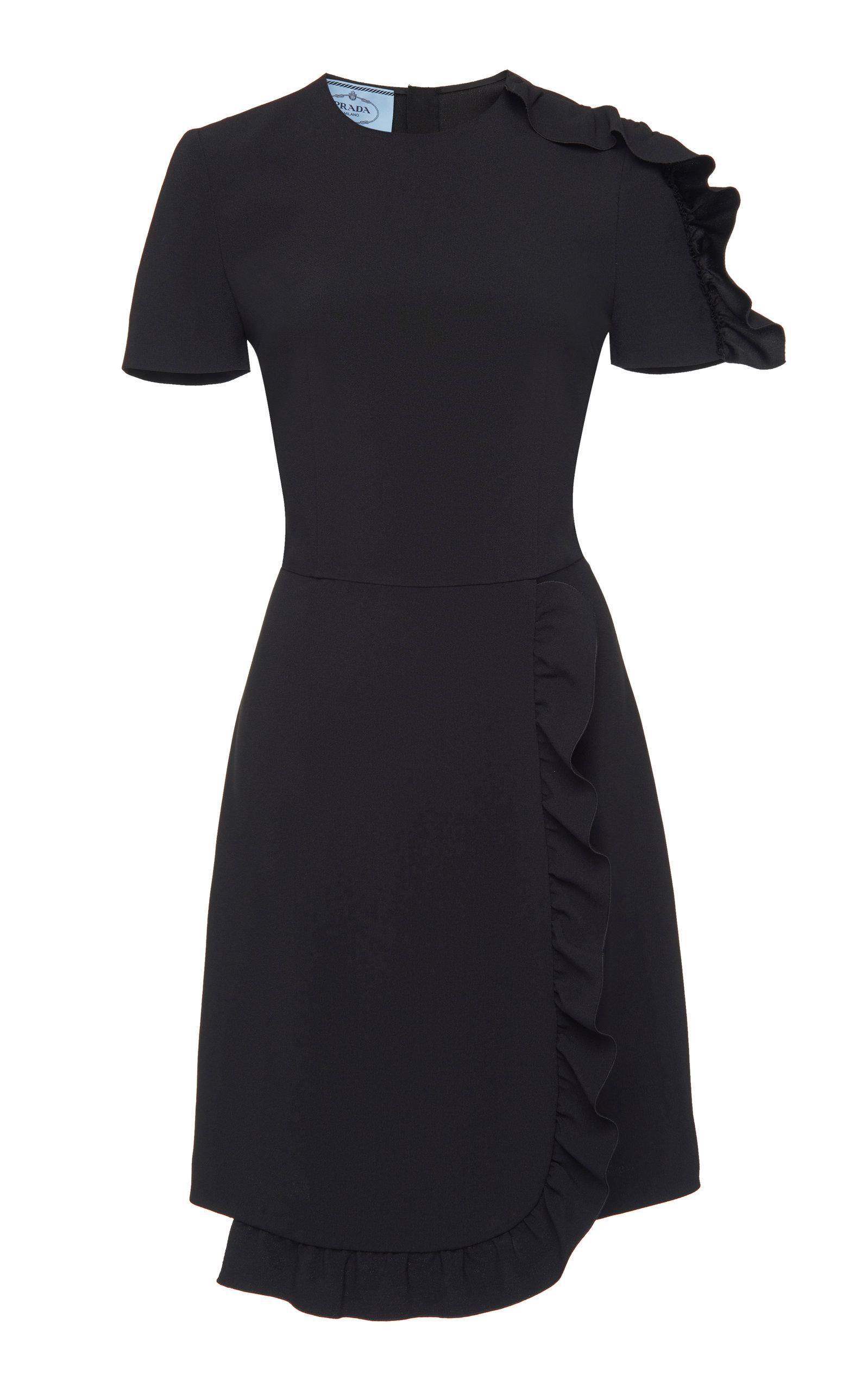 Buy Prada Asymmetric Ruffle Satin Mini Dress online, shop Prada at the best price