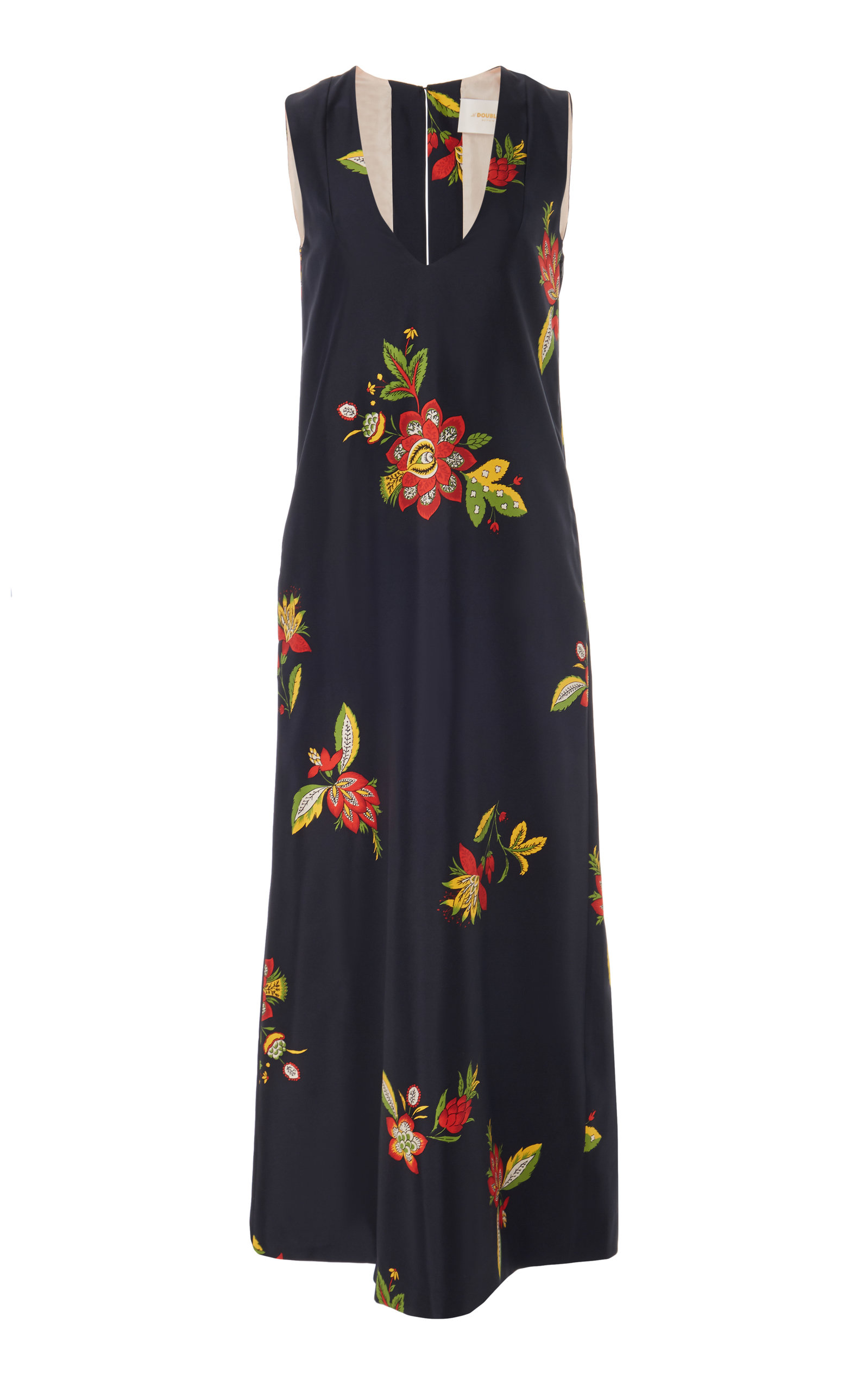 Buy La DoubleJ Floral-Print Silk Dress online, shop La DoubleJ at the best price