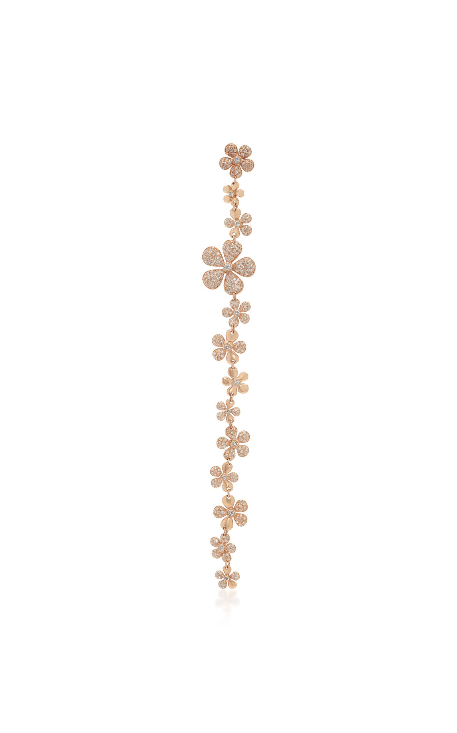 Colette Jewelry - Women's Alejandra 18K Rose Gold And Diamond Single Drop Earring - Gold - Moda Operandi