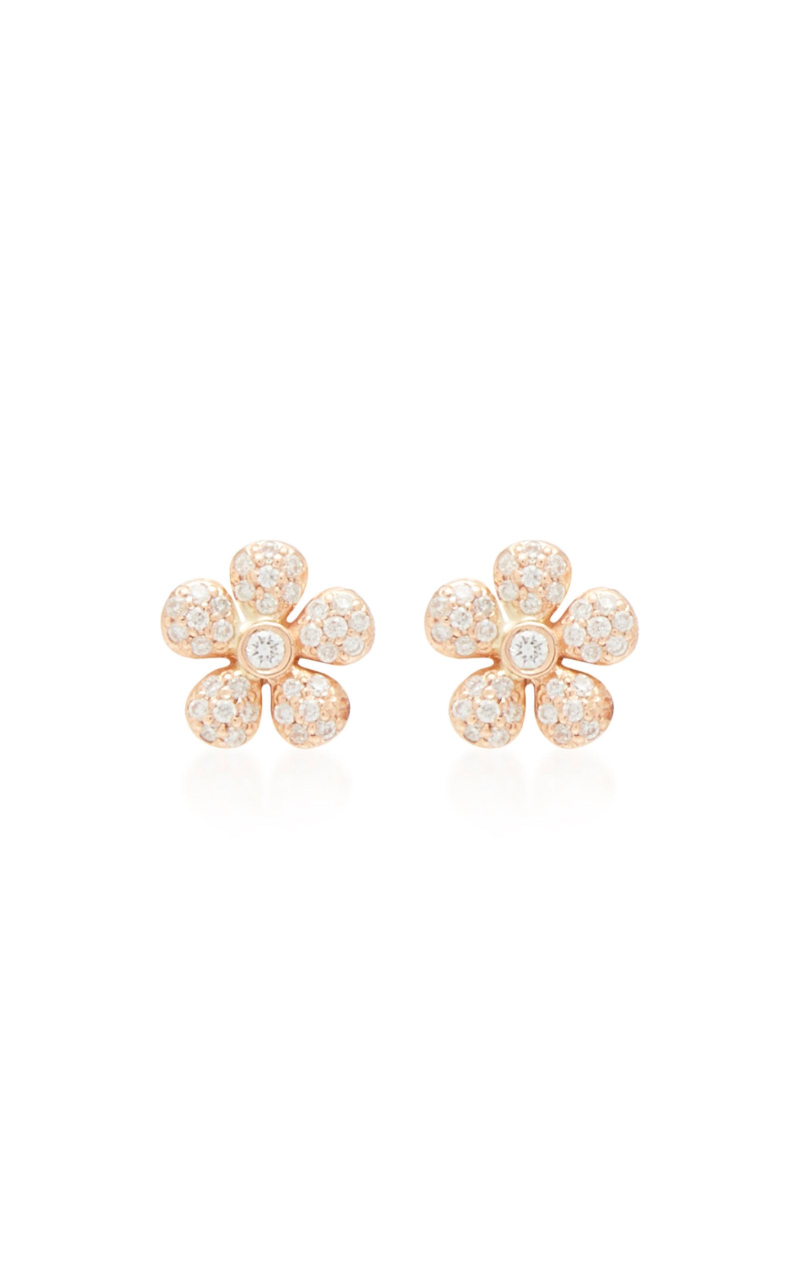 Women's 18K Gold and Diamond Earrings