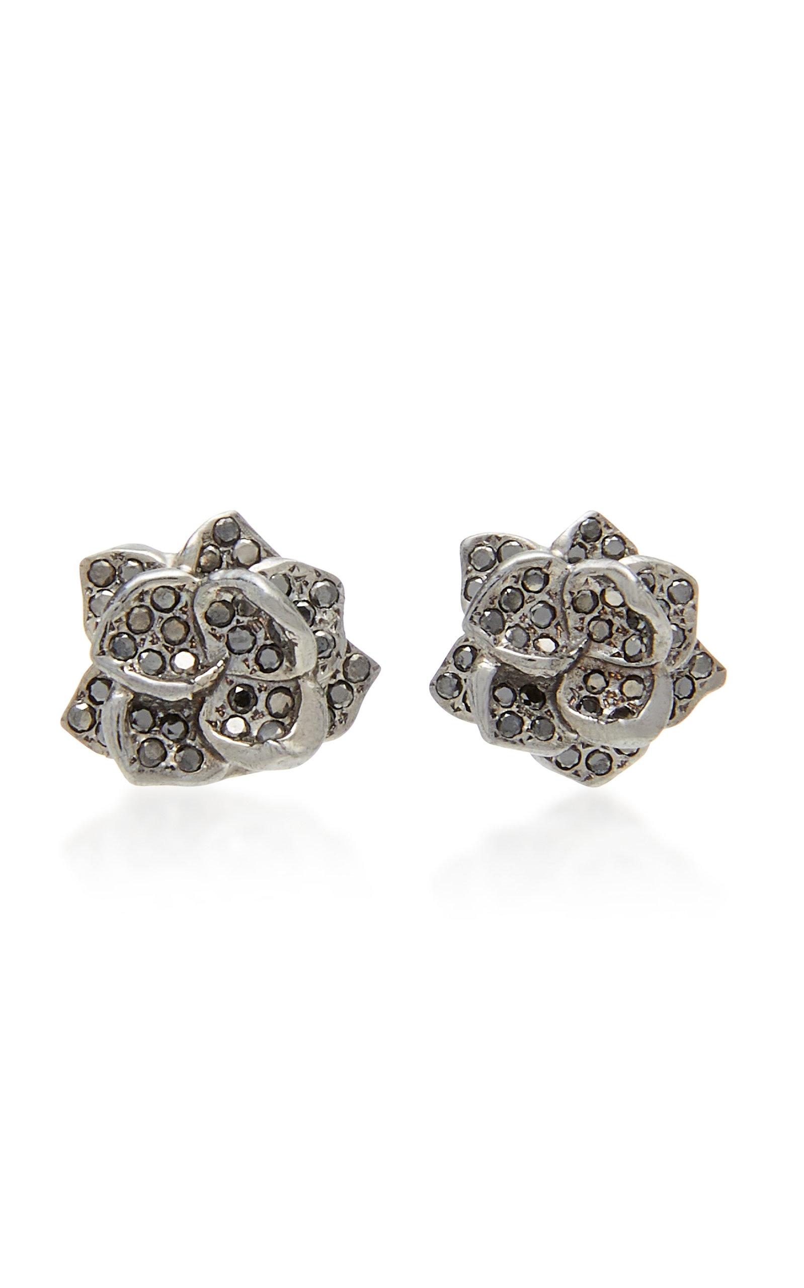 Women's 18K Black Gold and Diamond Earrings