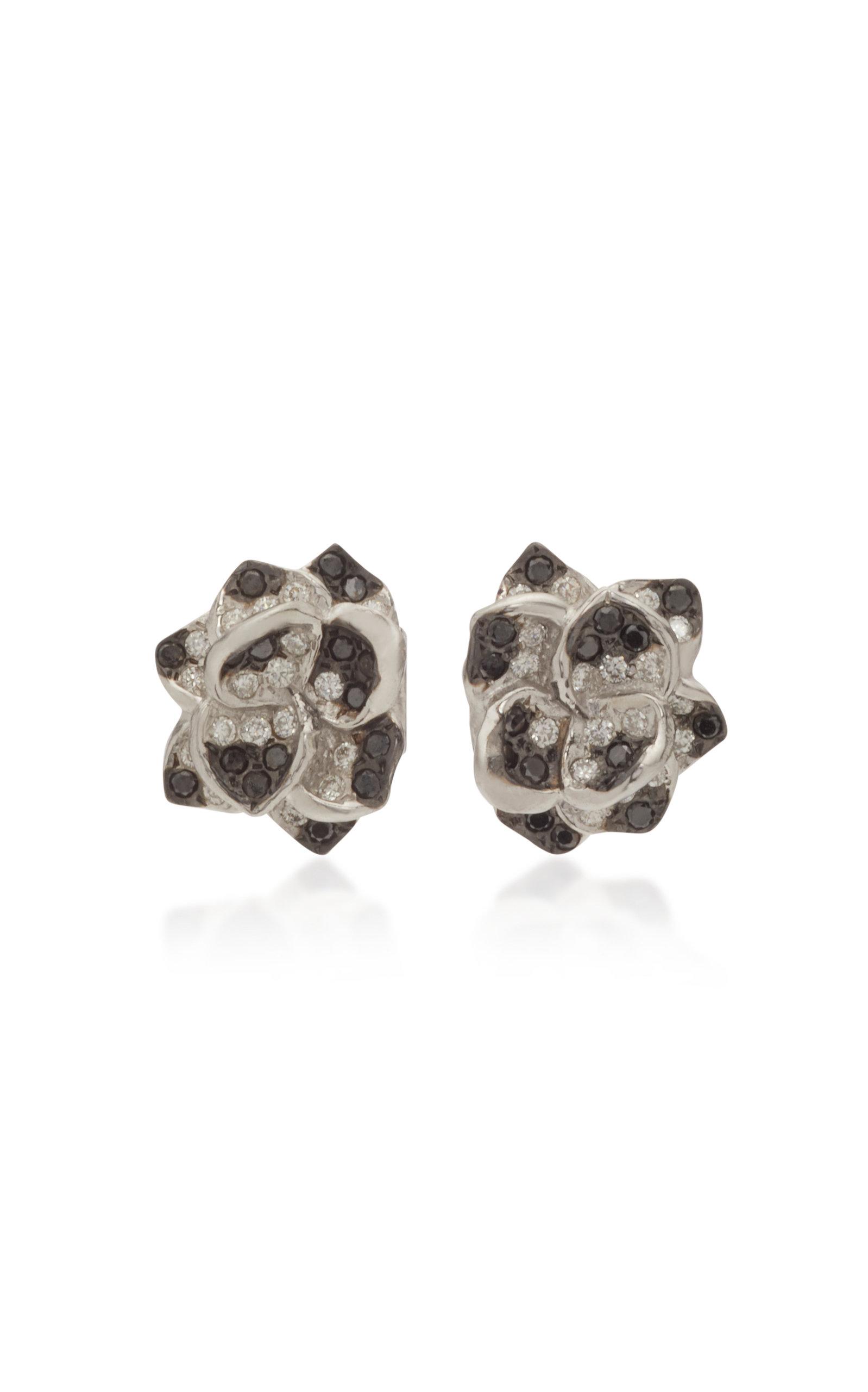 Women's 18K White Gold and Diamond Earrings