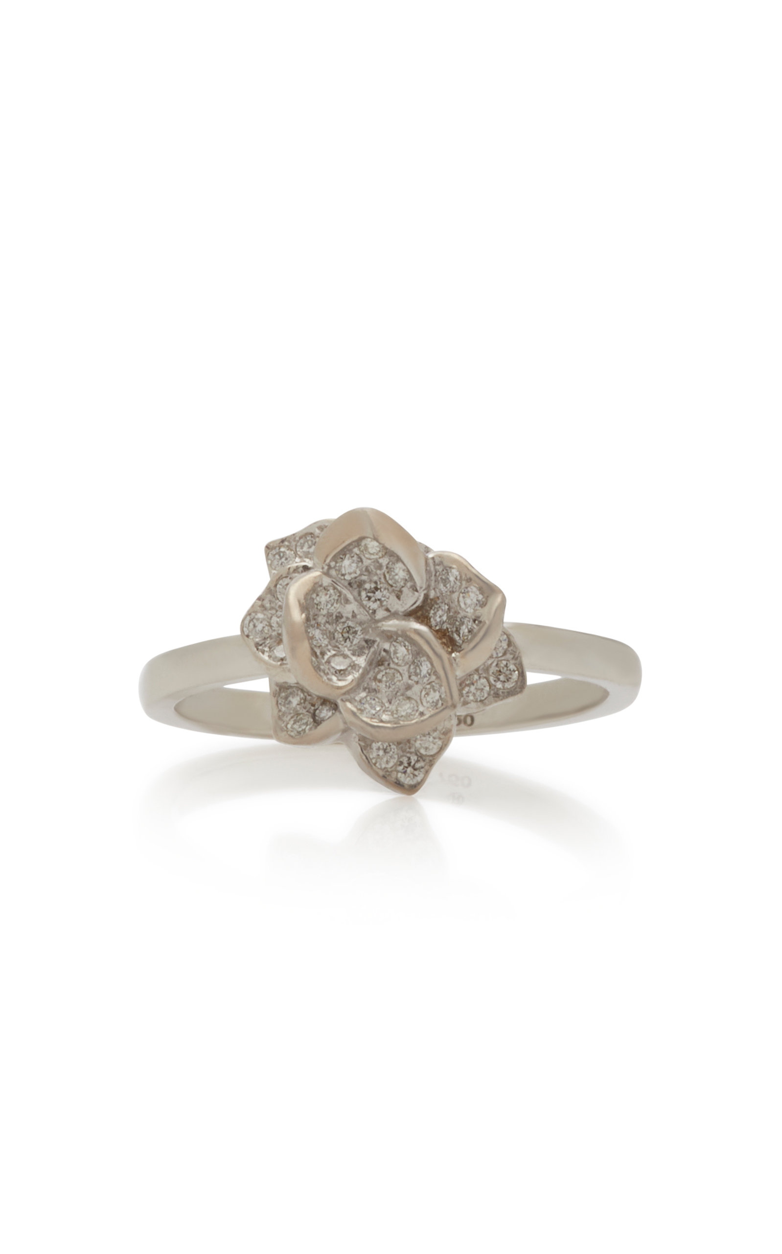 Colette Jewelry - Women's 18K White Gold Diamond Ring - White - Moda Operandi