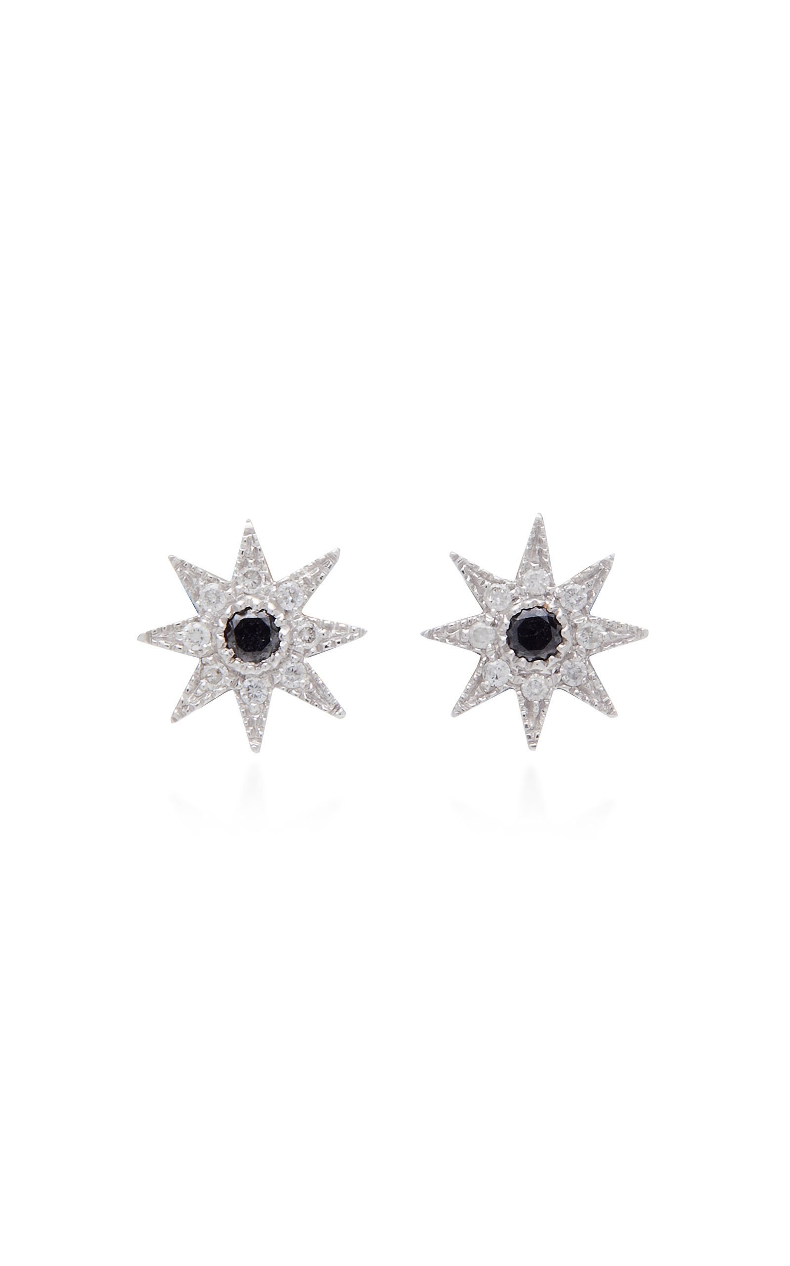 Colette Jewelry - Women's 18K White Gold and Diamond Earrings - White - Moda Operandi