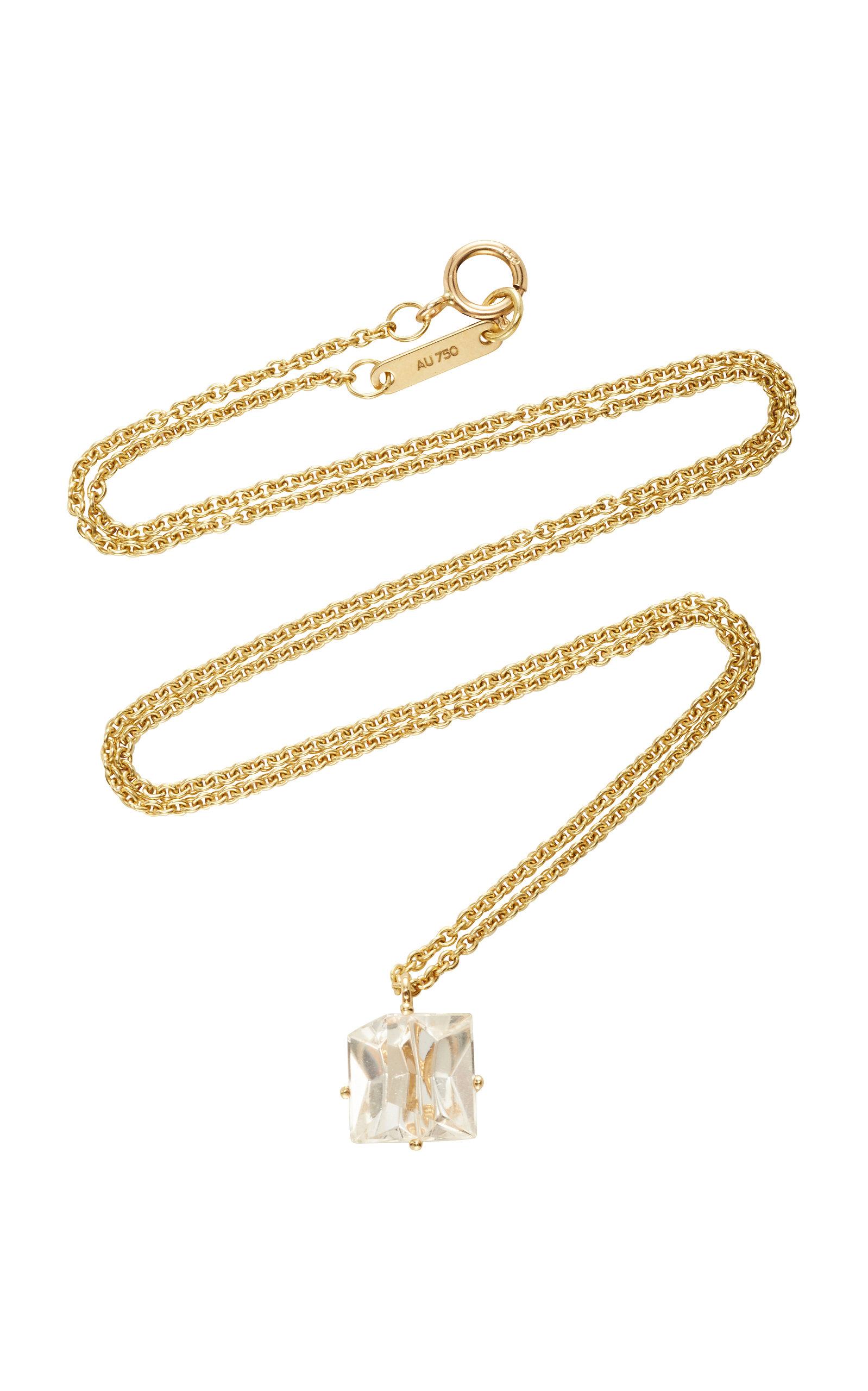 Women's 18K Gold Morganite Necklace