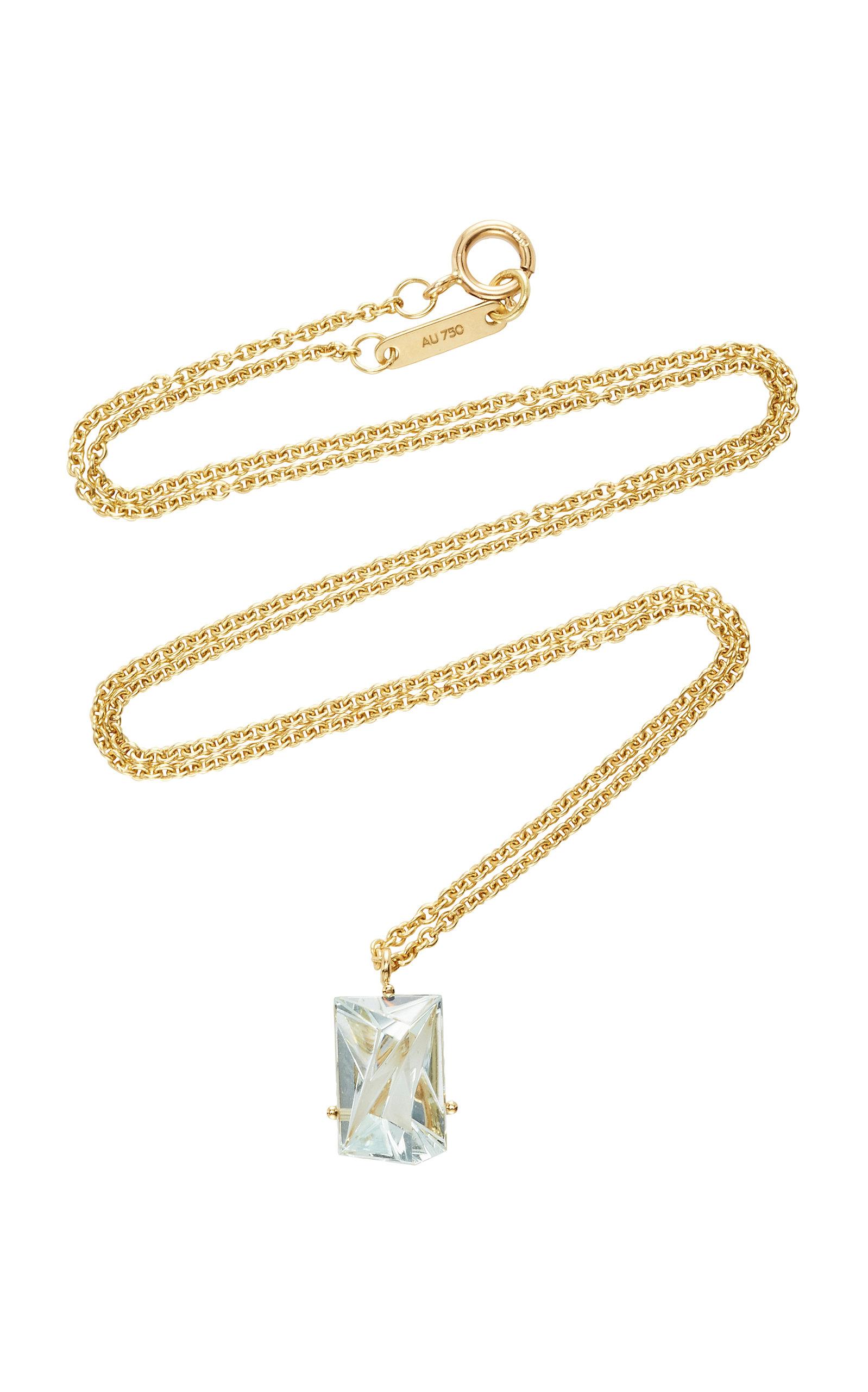 Women's 18K Gold Aquamarine Necklace
