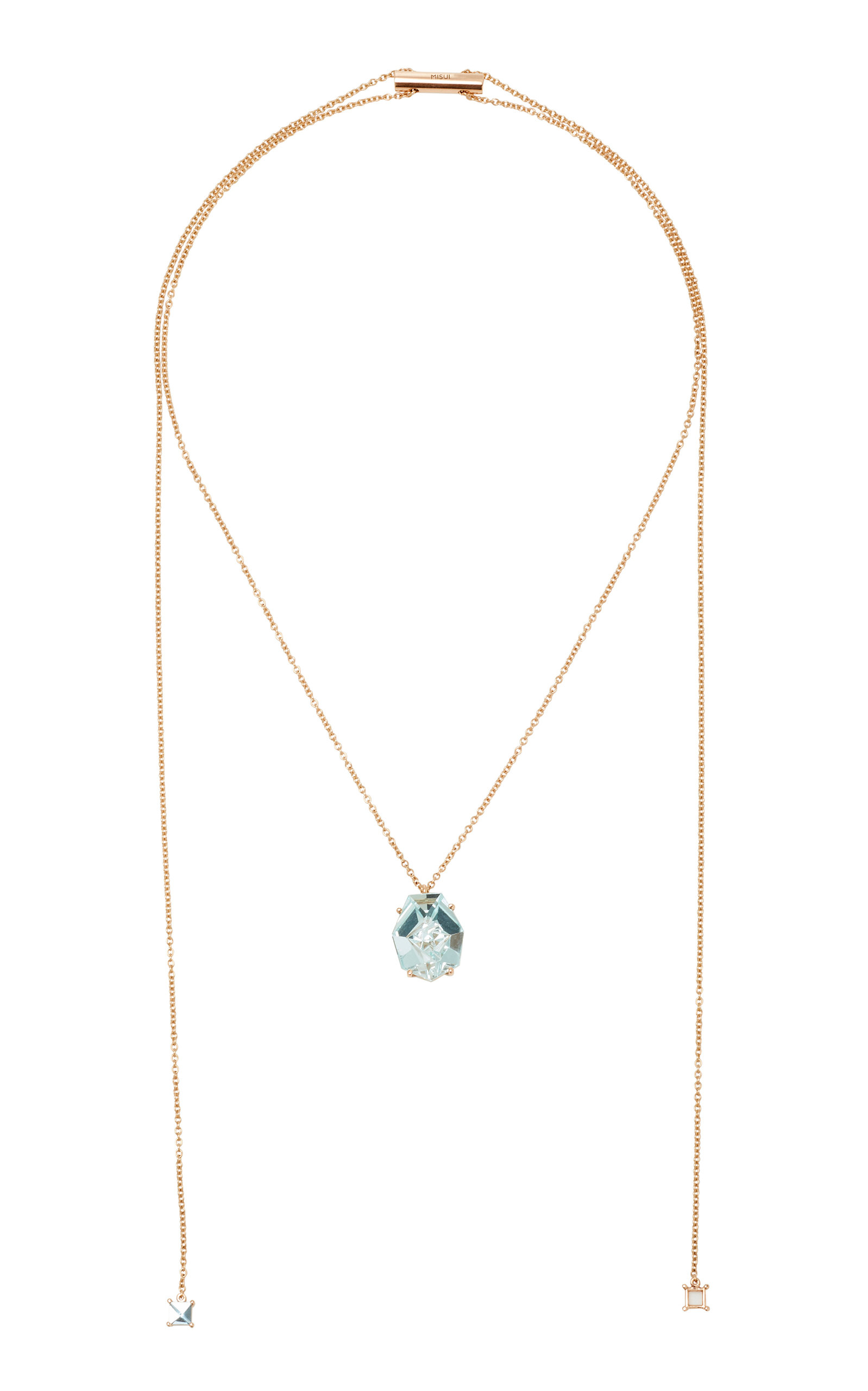 Women's 18K Rose Gold Aquamarine Necklace