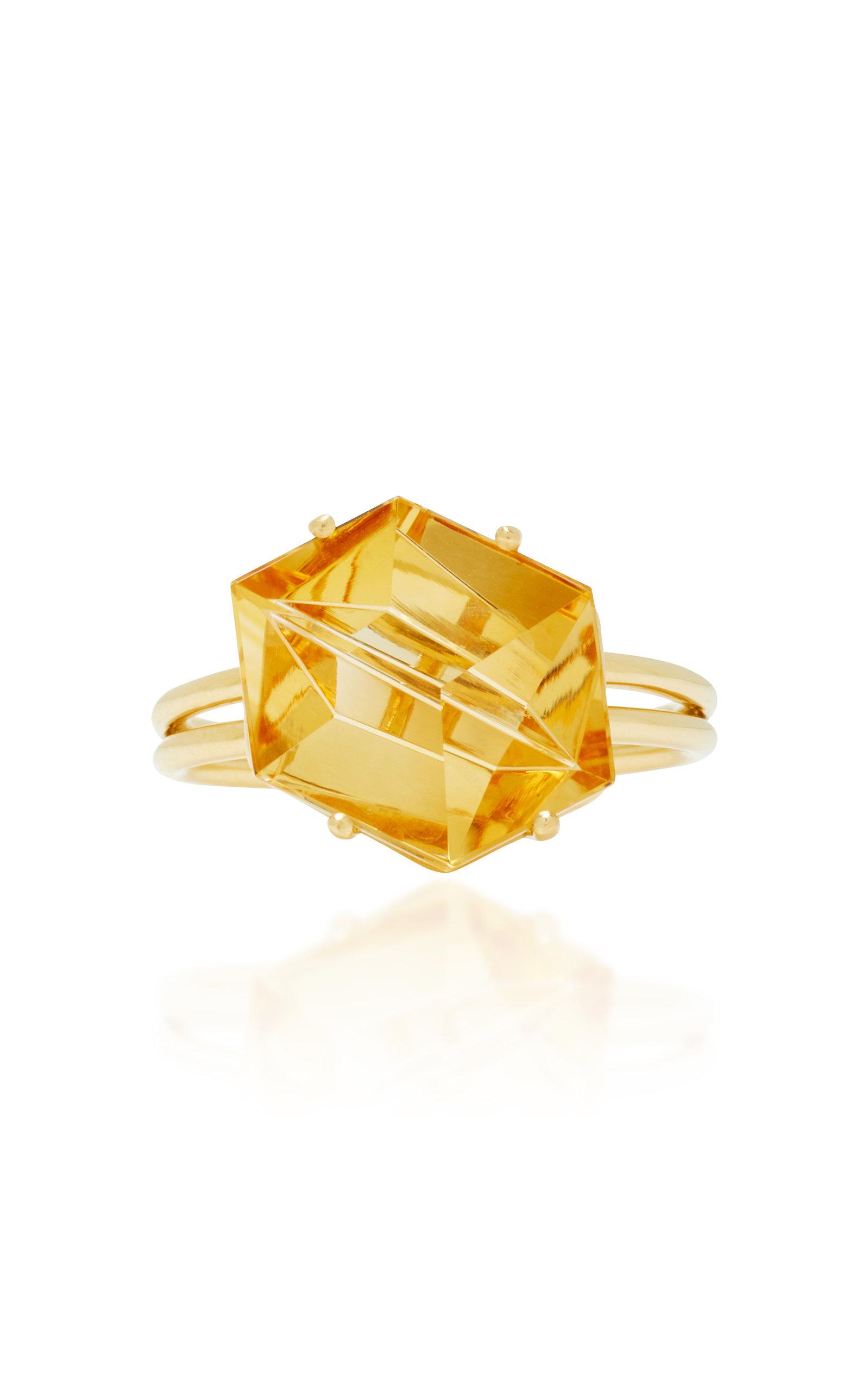Women's 18K Gold Citrine Ring