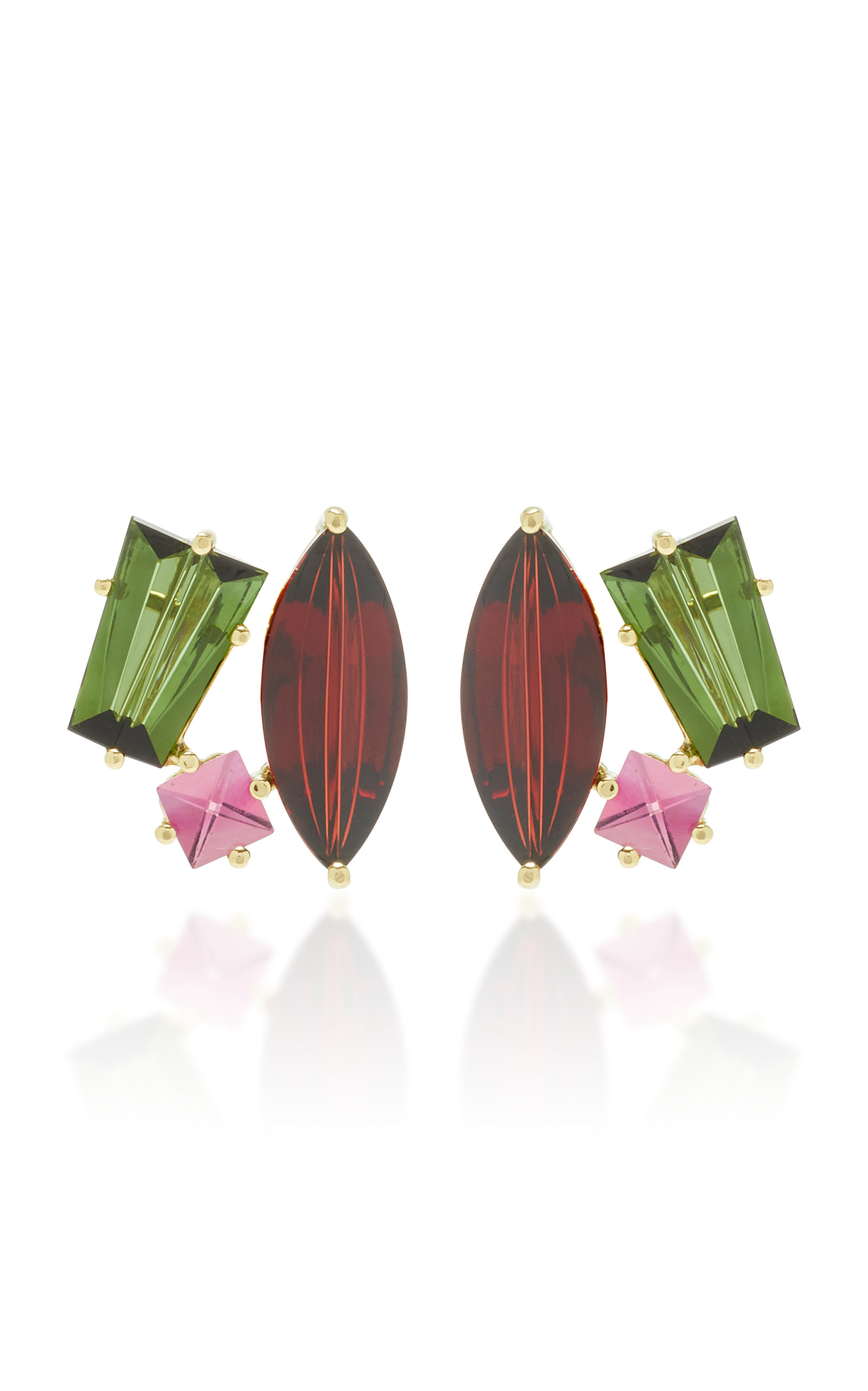 Women's One-Of-A-Kind 18K Gold and Multi-Stone Earrings