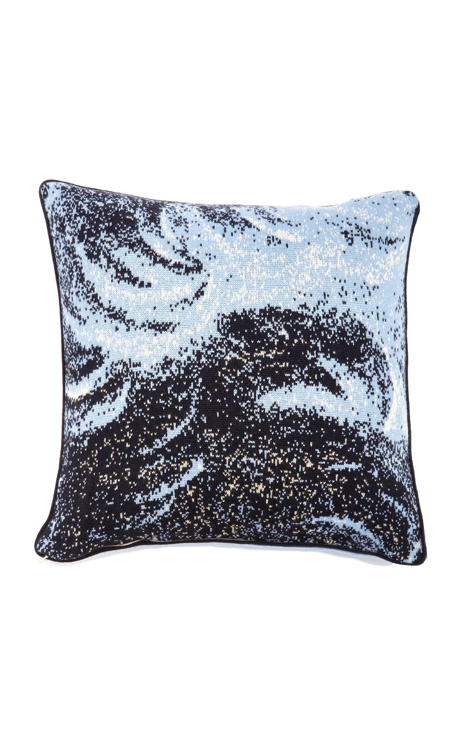 Saved NY  – Roman Bear Cashmere Throw Pillow – Color: Grey/red – Material: 100% cashmere – Moda Operandi