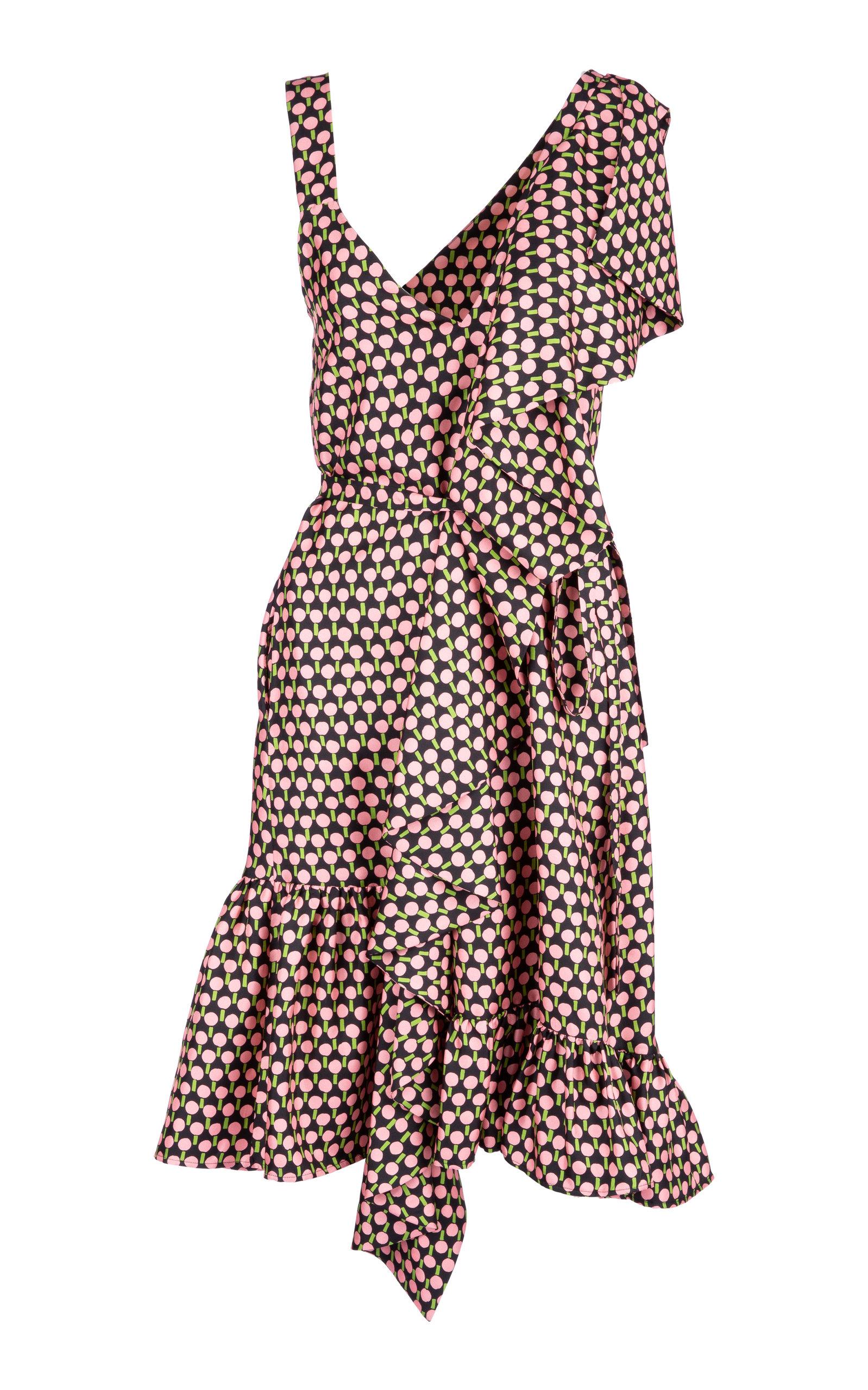 Buy La DoubleJ Jazzy ruffled silk dress online, shop La DoubleJ at the best price