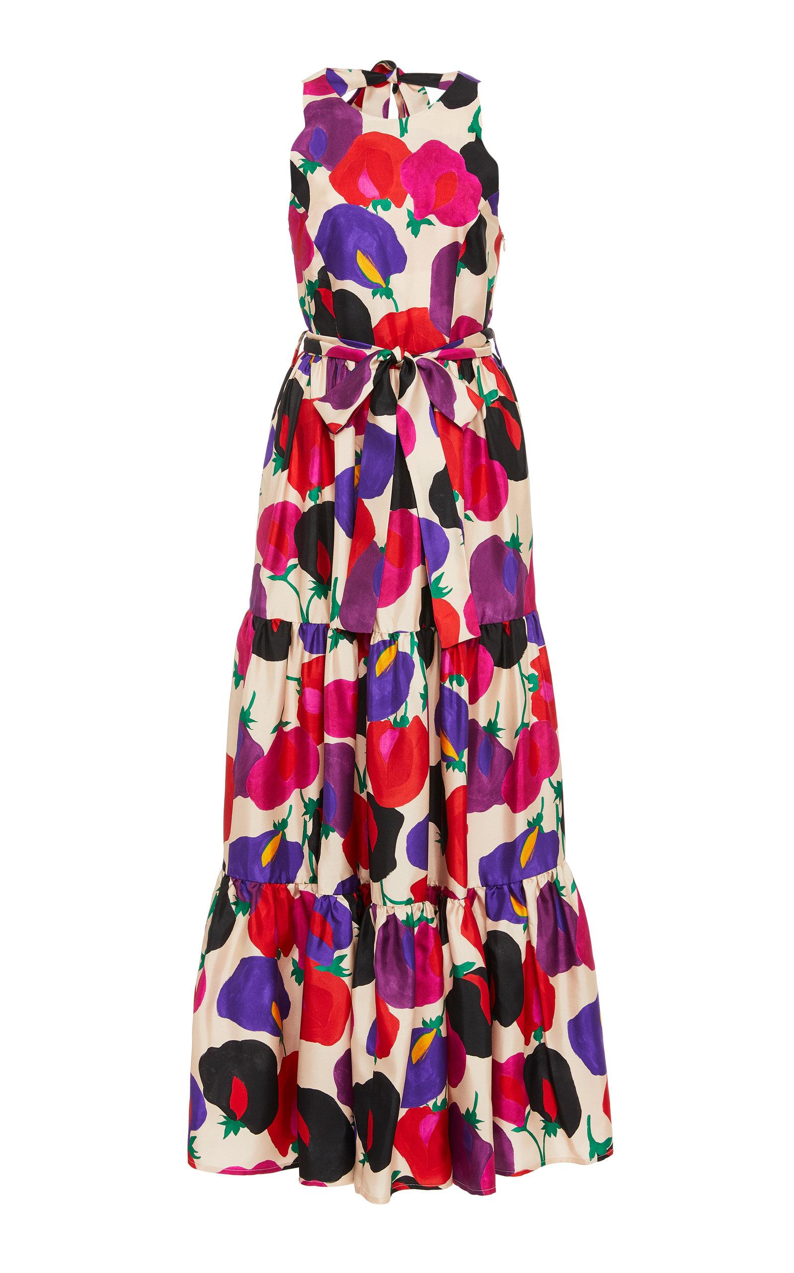 Buy La DoubleJ Pellicano Americano Silk Maxi Dress online, shop La DoubleJ at the best price
