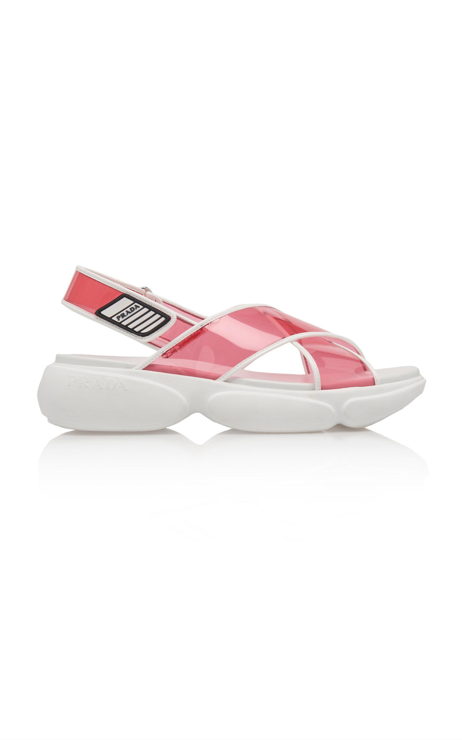 Prada Prada PVC Strappy Sandals from