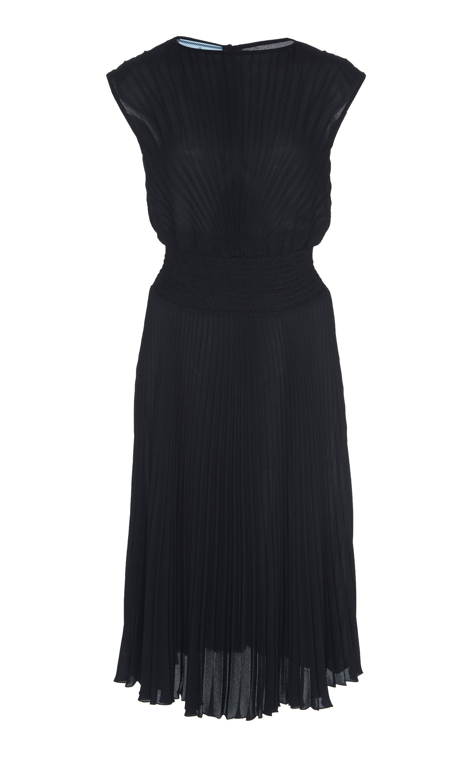 Buy Prada Plisse Midi Dress online, shop Prada at the best price