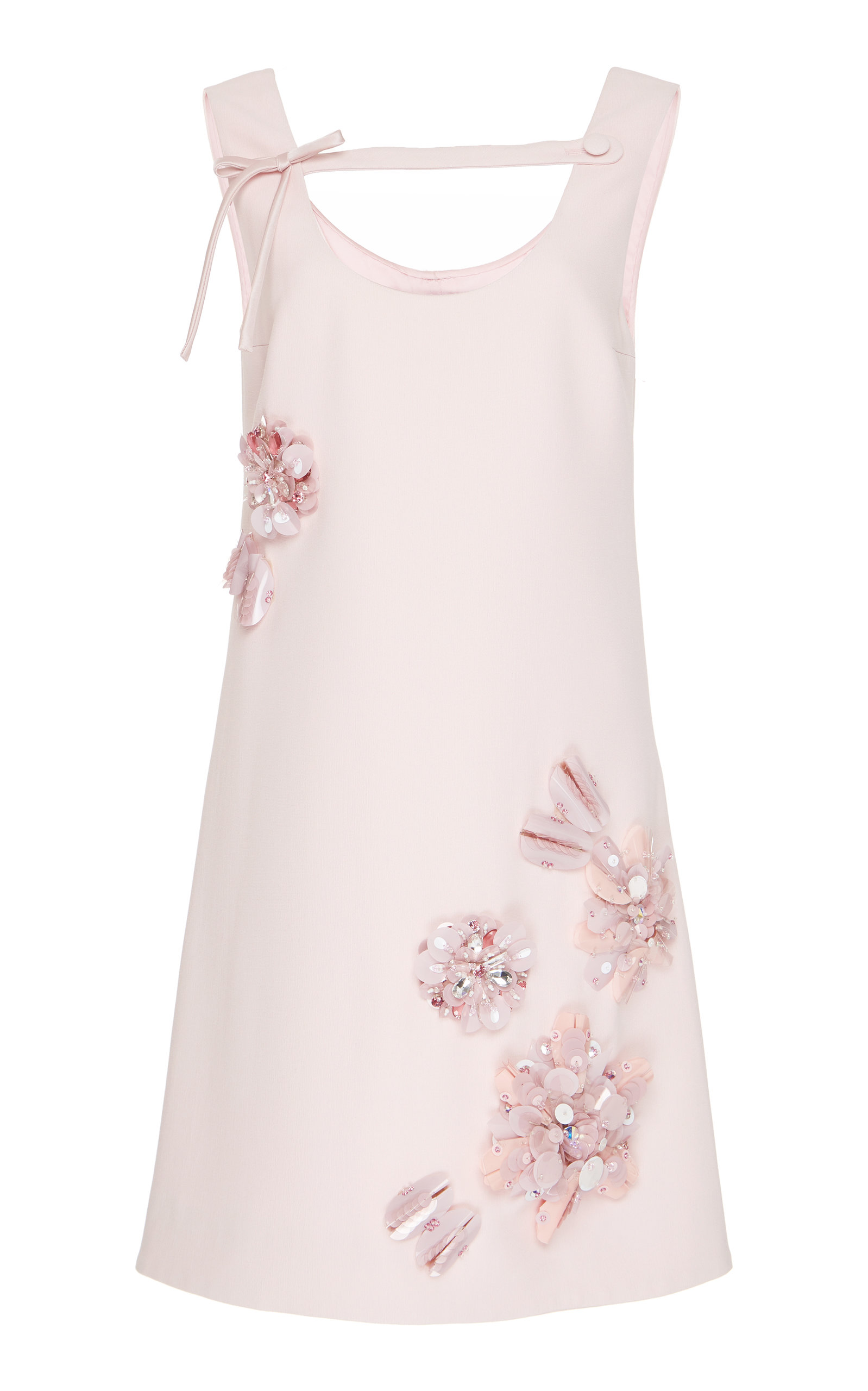 Buy Prada Embroidered Crepe Cady Shift Dress online, shop Prada at the best price