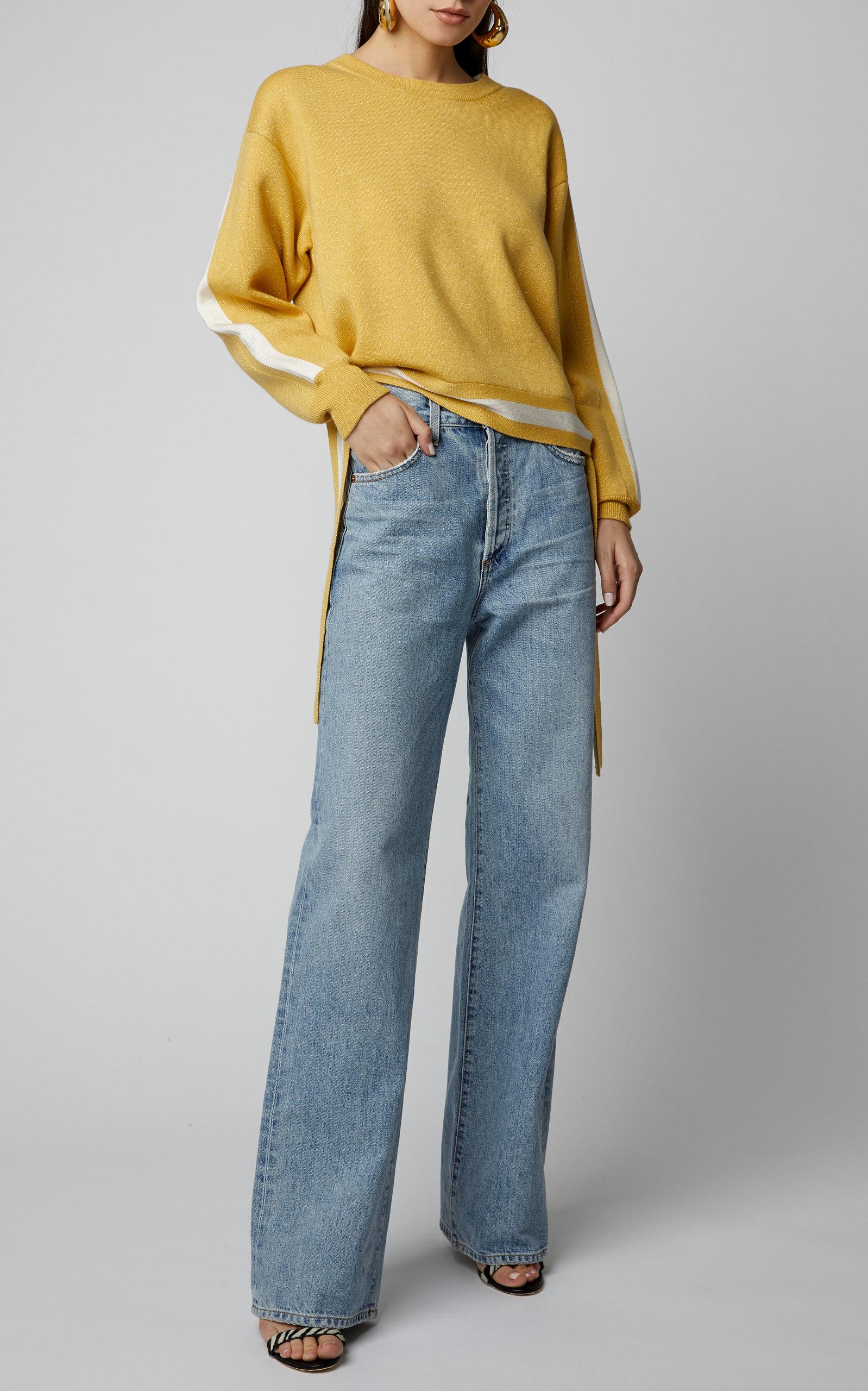 Grosgrain Trimmed Merino Blend Sweater By Lapointe | Moda