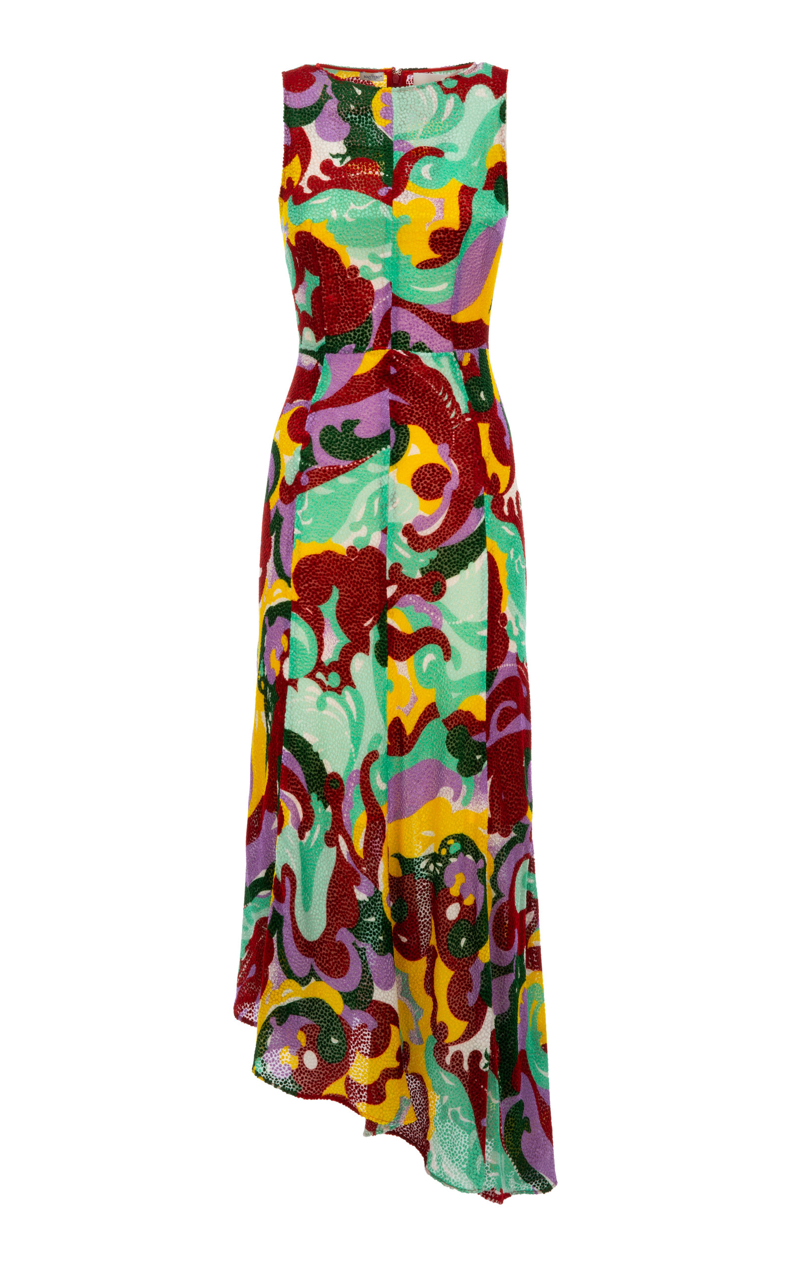 Buy La DoubleJ Pina Printed Silk-Blend Dress online, shop La DoubleJ at the best price