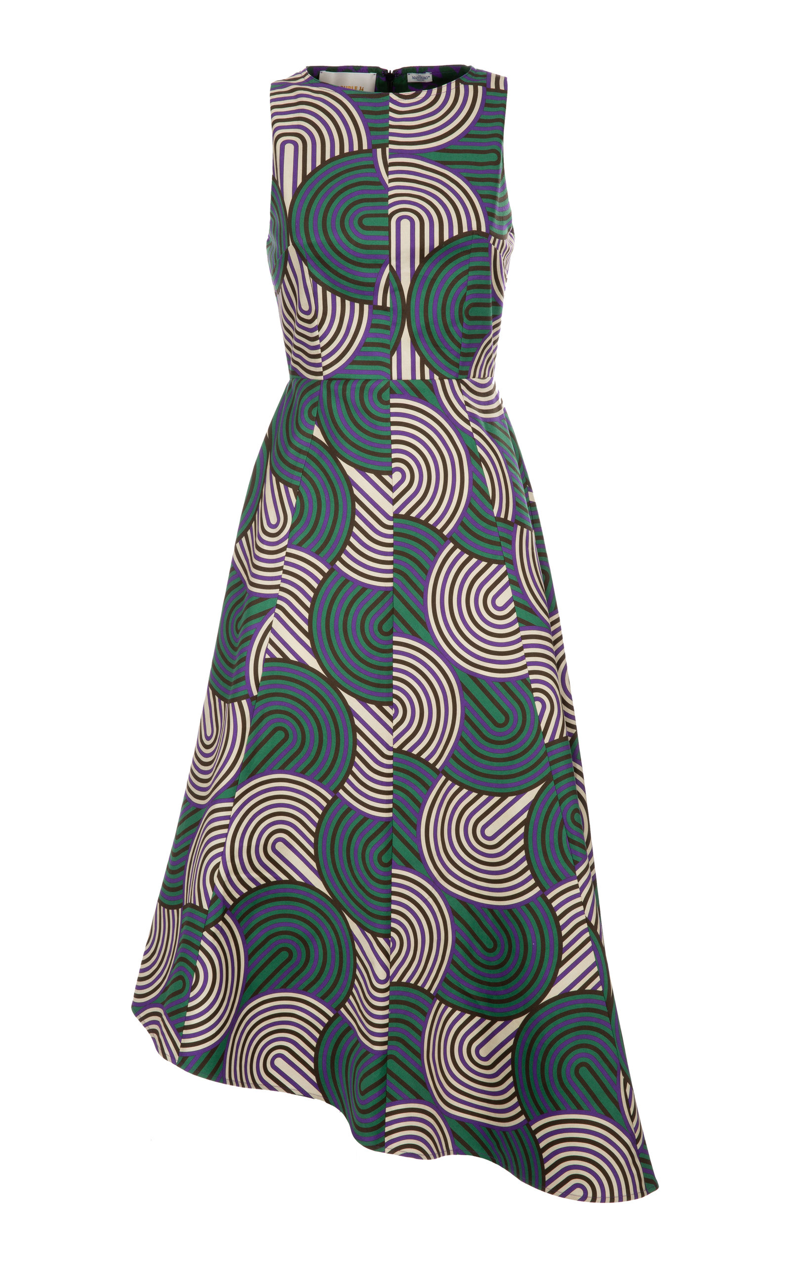 Buy La DoubleJ Pina Asymetric Printed Cotton-Blend Dress online, shop La DoubleJ at the best price