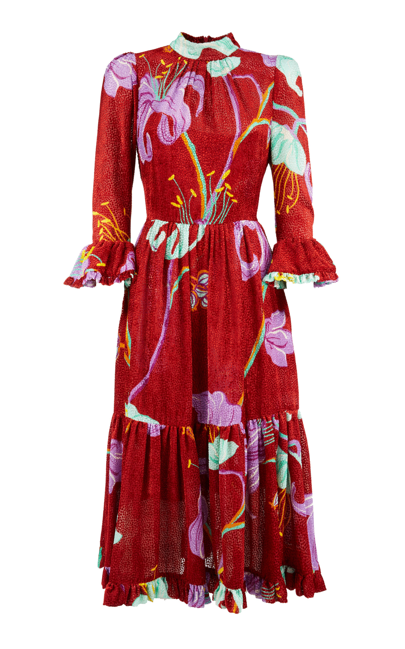Buy La DoubleJ Midi Visconti Printed Silk-Blend Dress online, shop La DoubleJ at the best price